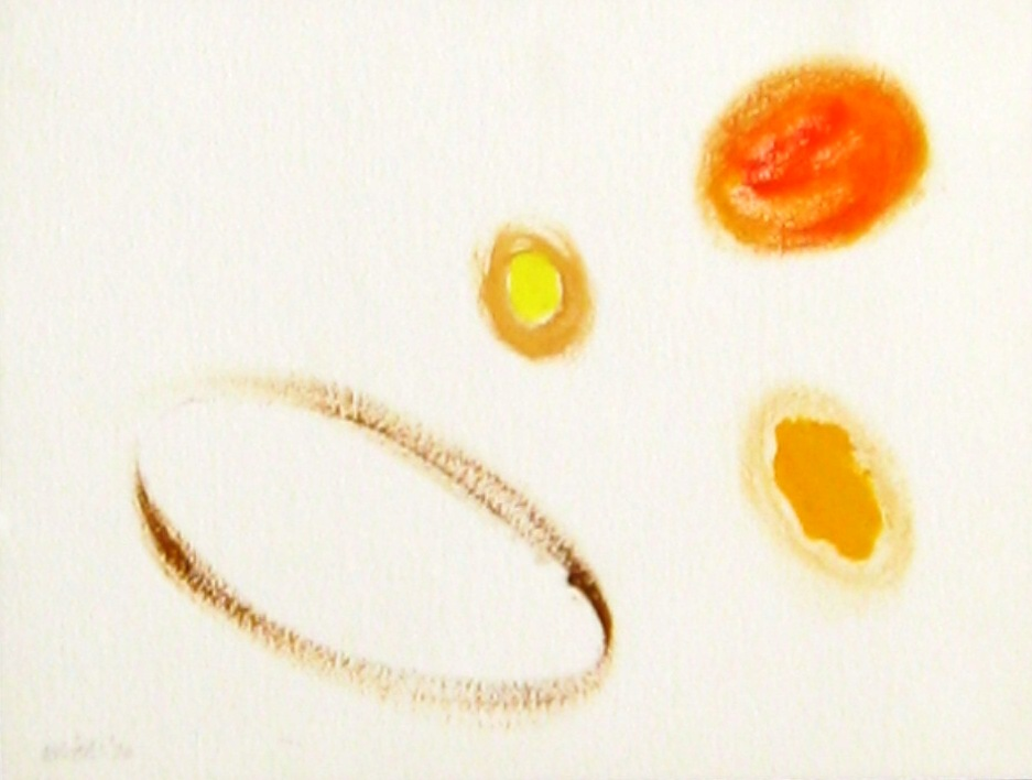 1973.0016  1973, acrylic on paper, 12x14 in
