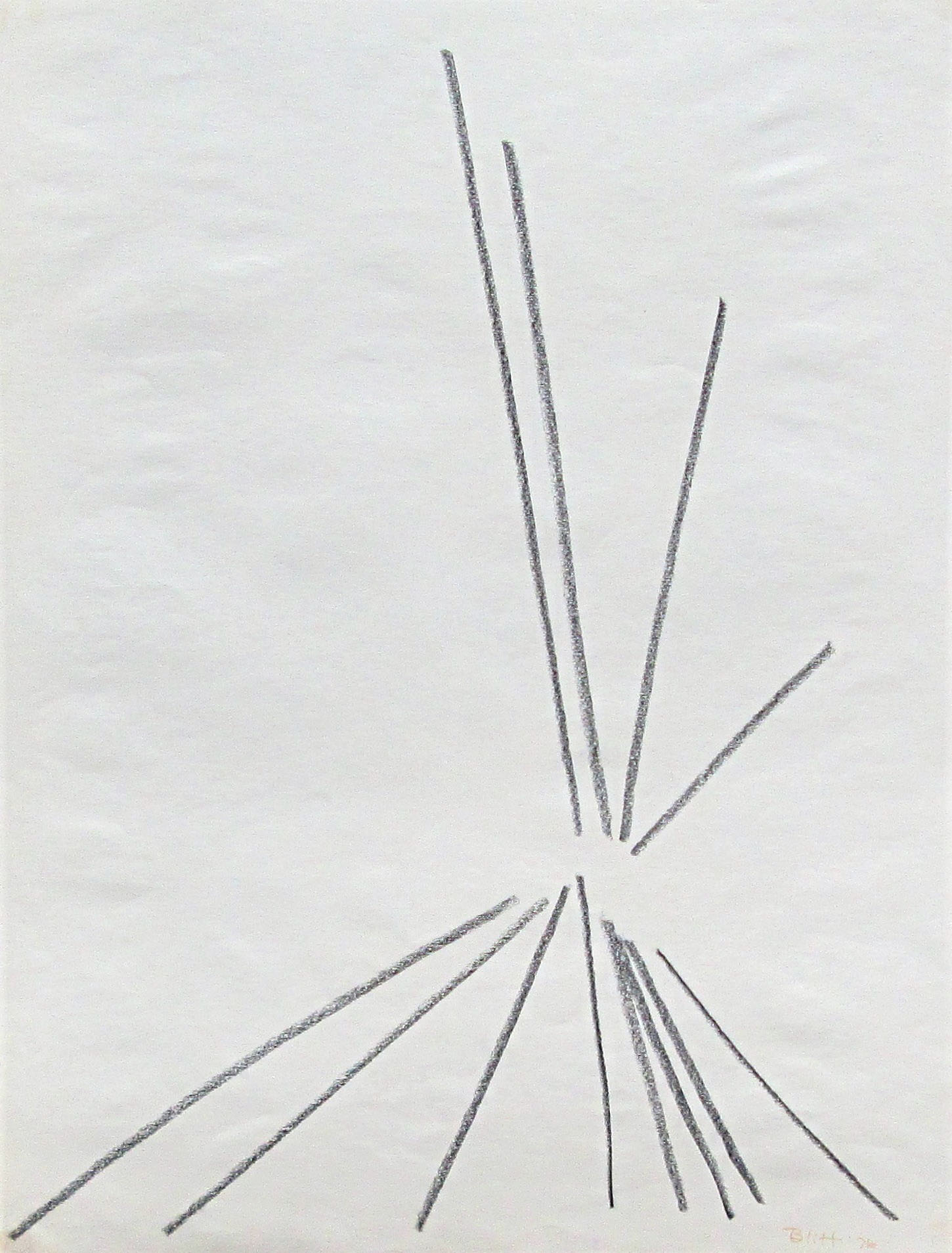 1976.0011  1976, conte crayon on paper, 24x18 in