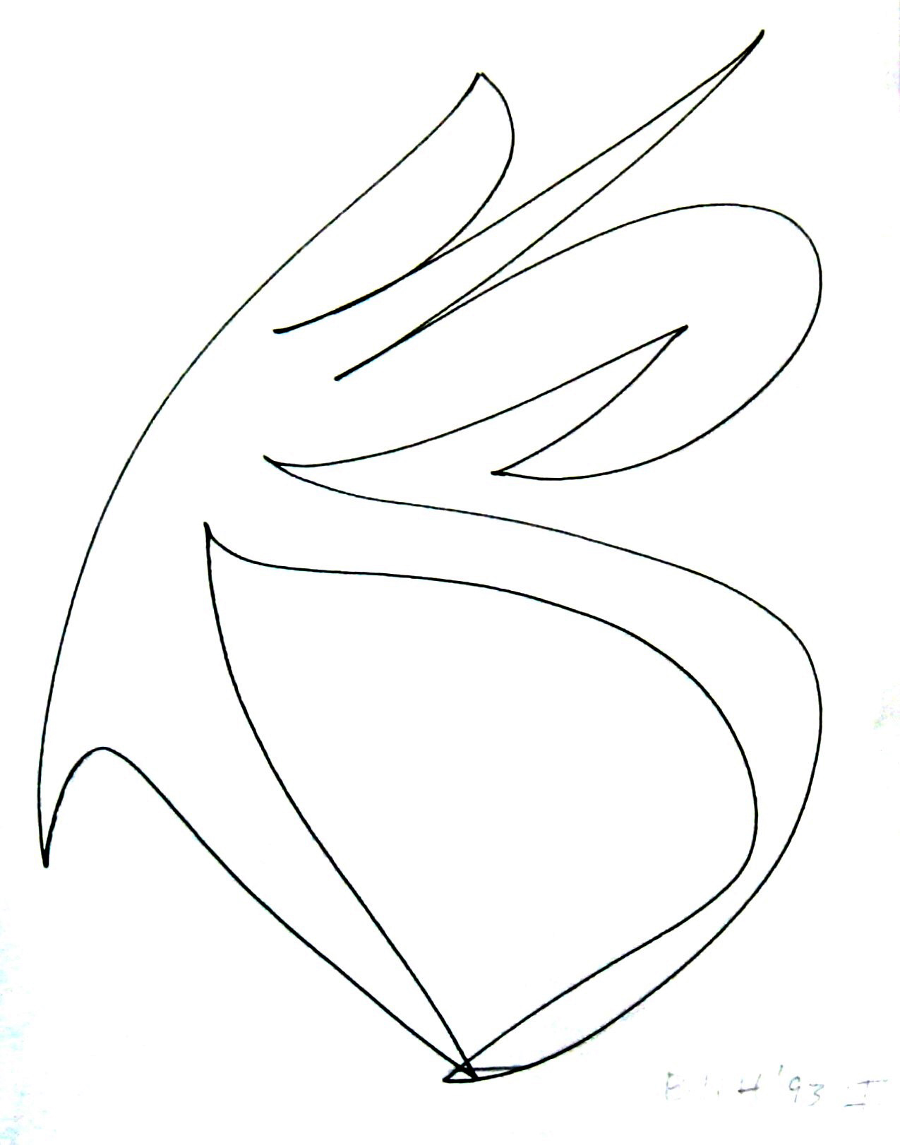 Iceland Silent Energy  1993, ink on paper, 11x8.5 in