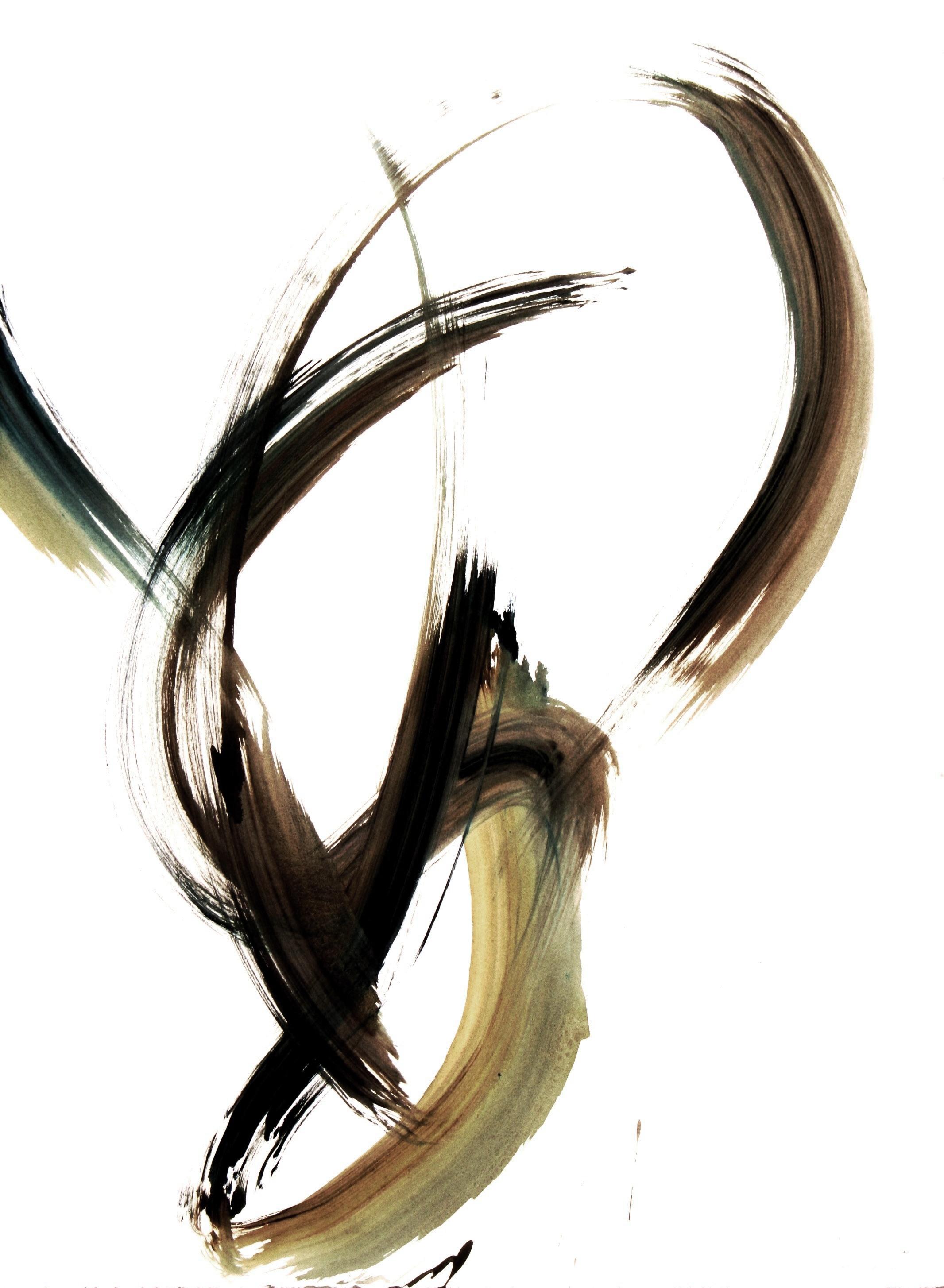 Exuberant Moment IX  2000, acrylic on paper, 30x22in
