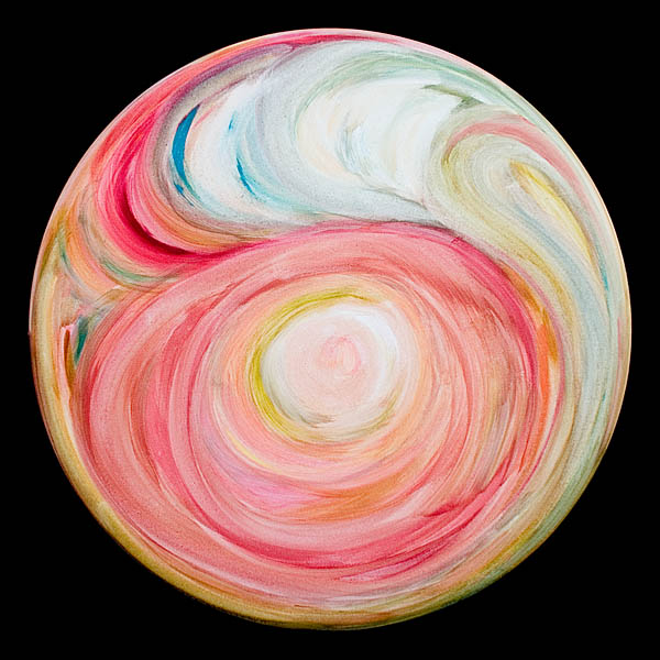 Rendezvous With Love  2006, oil on canvas, 36 in (diameter)