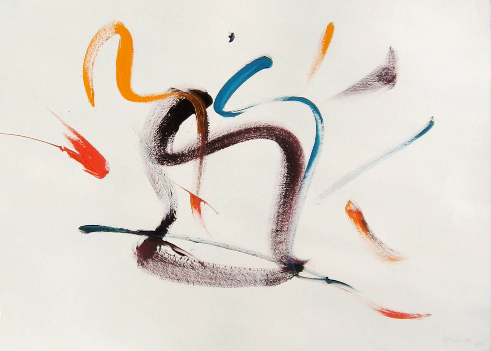 Mozart #36  1998, acrylic on paper, 22x30 in