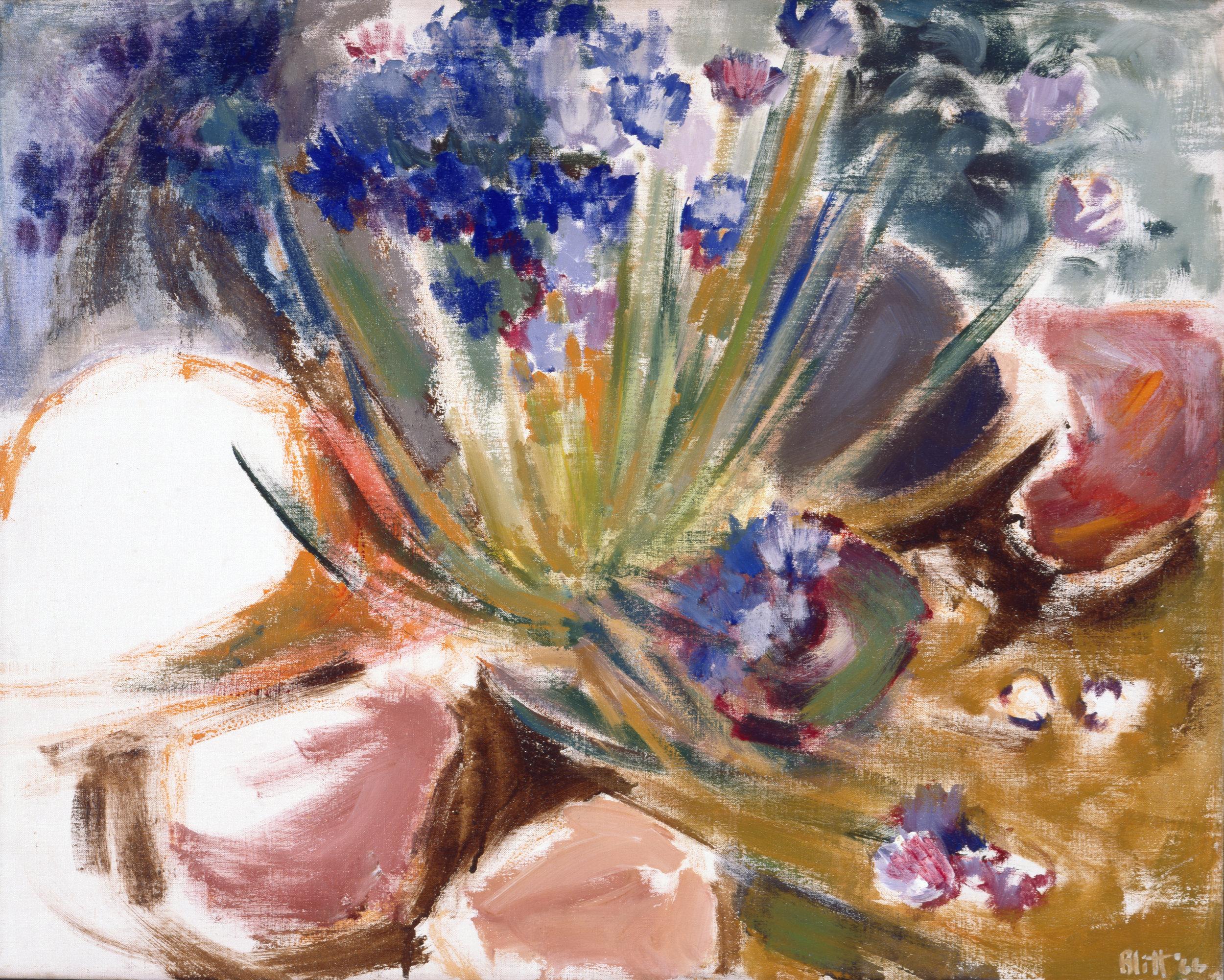 Aspen Hillside  1964, acrylic on canvas, 24x30 in