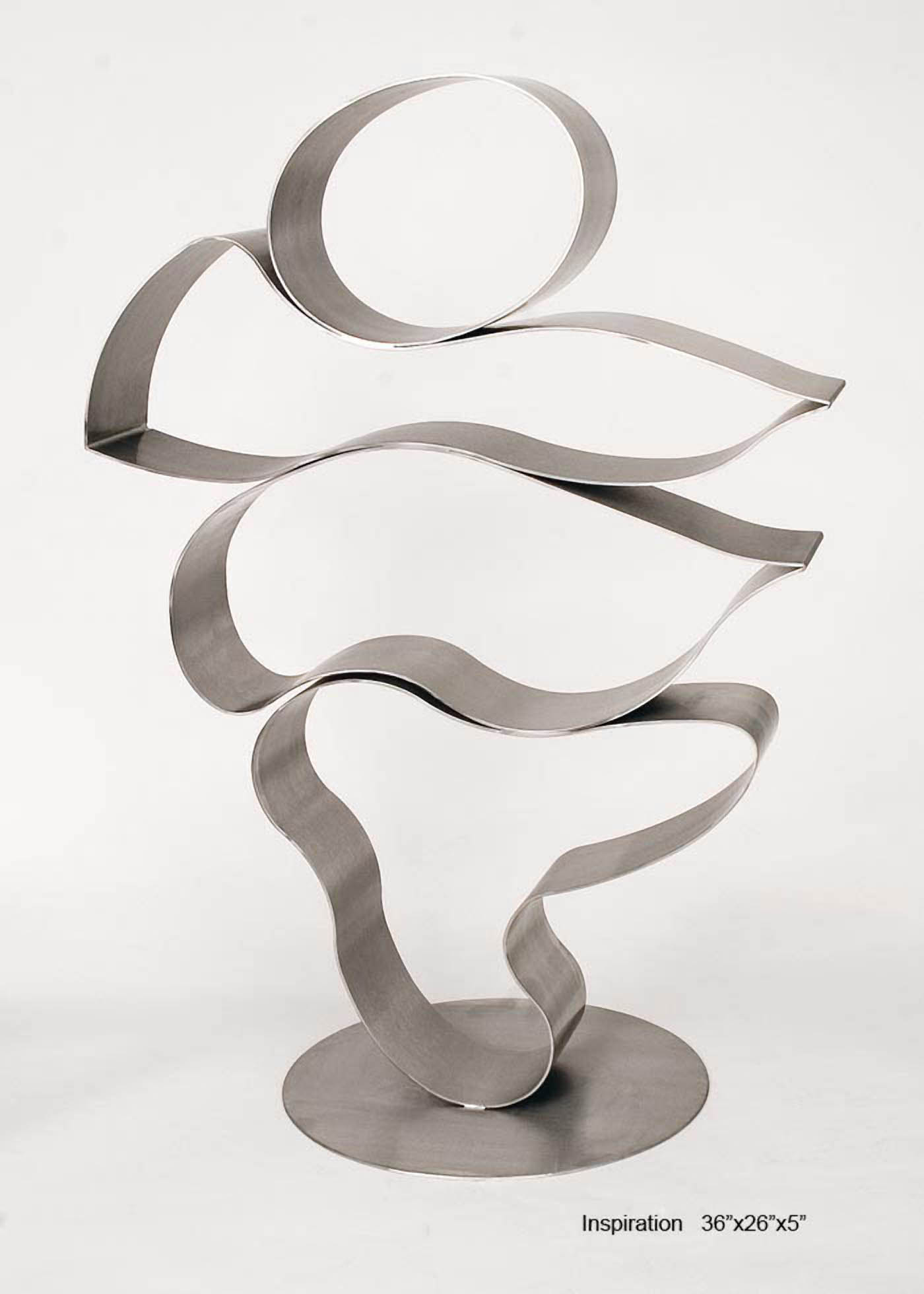 Inspiration    2005, stainless steel, 36x26x5 in