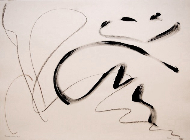 Beethoven's Fifth III  2011, ink and conte on paper, 22x30