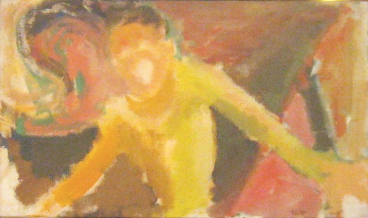 Connie Singing  1963, oil on canvas, 20x34 in
