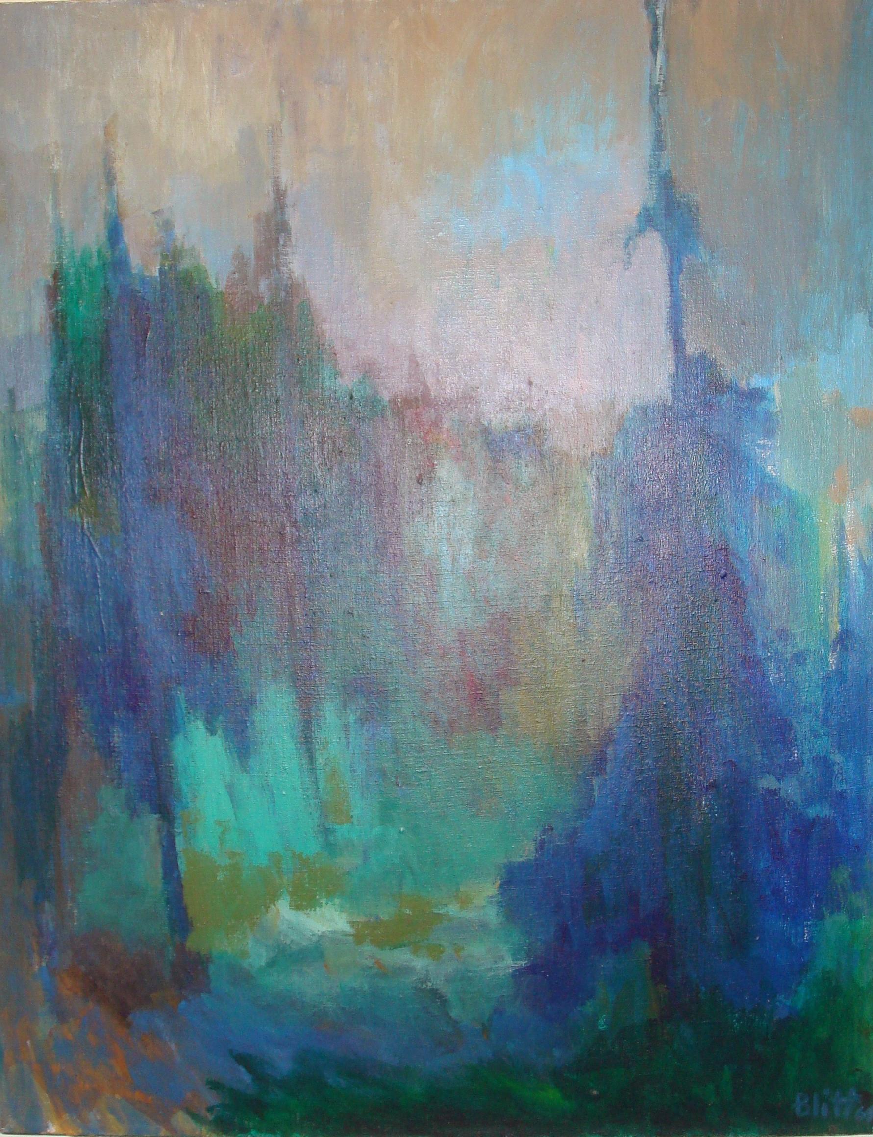 Fir Trees in Aspen  1964, acrylic on canvas, 40x30 in