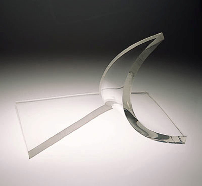 Splash of Light  1976, acrylic sheet, 16x24x18 inches
