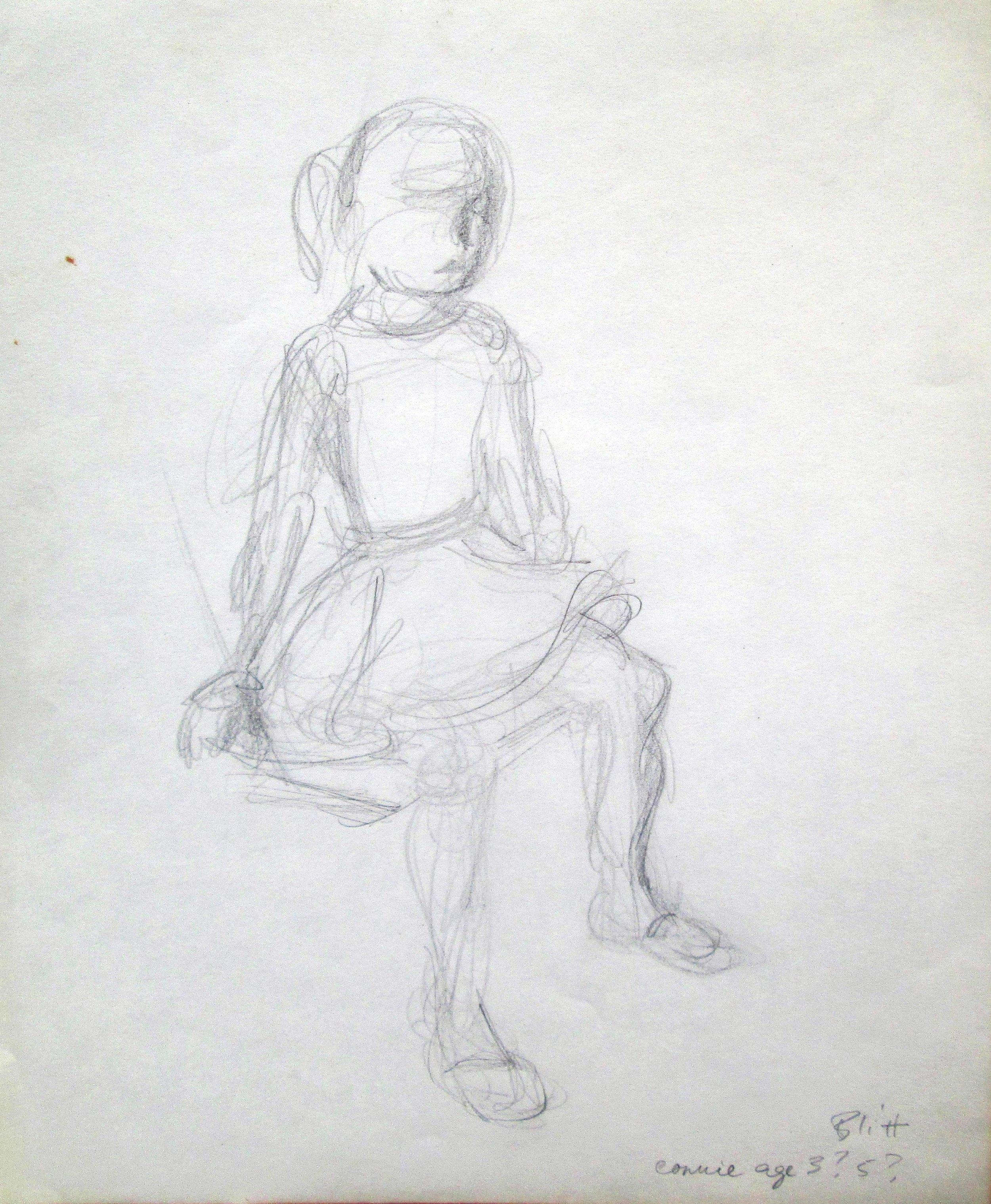 Connie Chela  1958, pencil on paper, 14x11 in