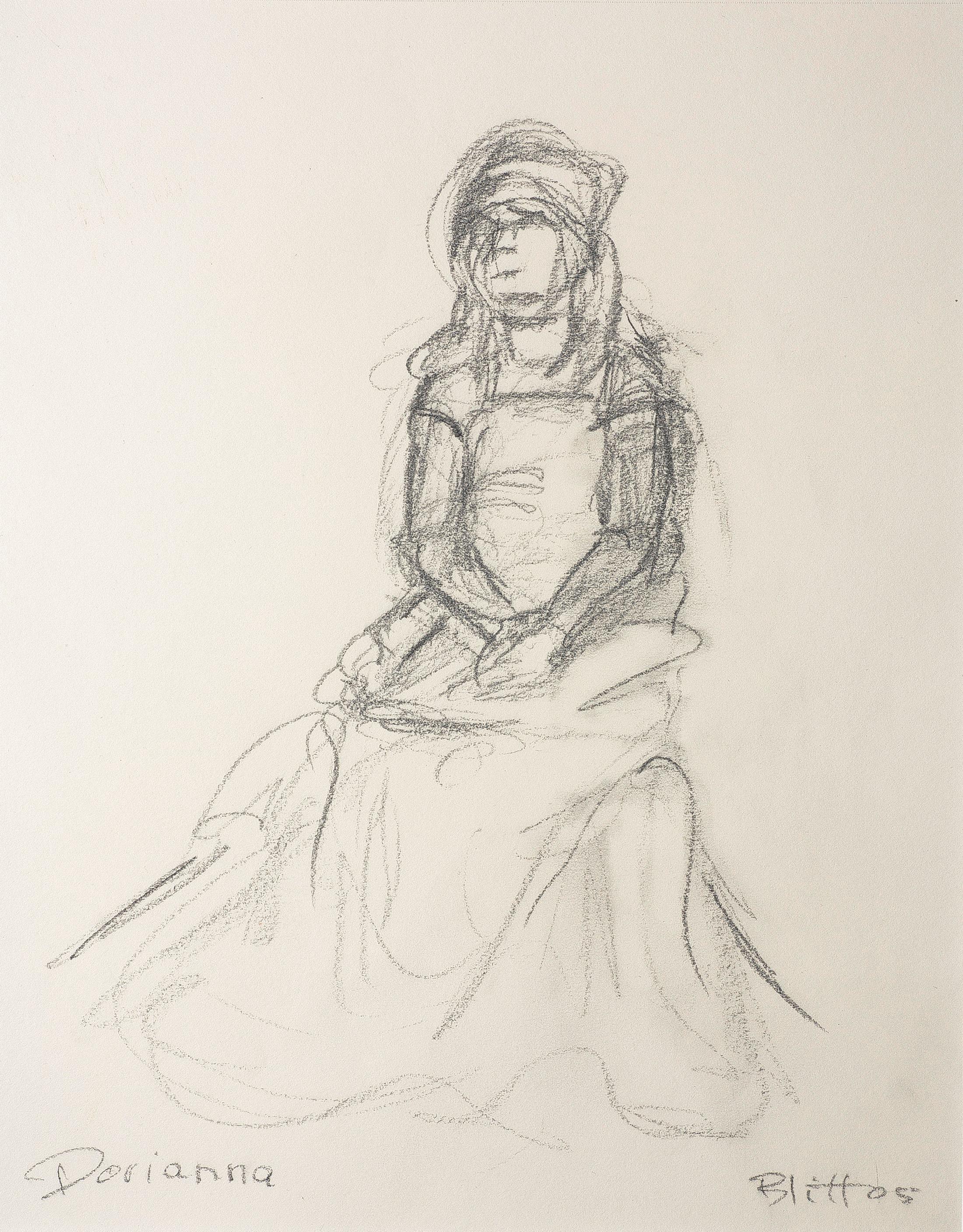 Dorianna  2005, pencil on paper, 14x11 in