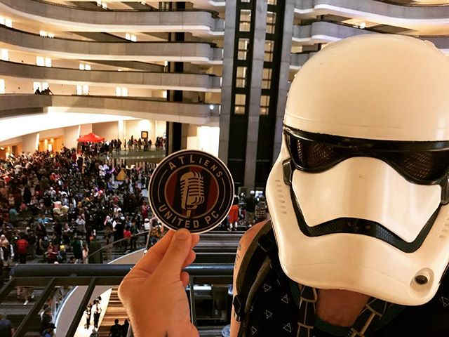 Why are there no soccer panels here? We must be at the wrong convention.... #dragoncon 🧟‍♂️#atliensunited