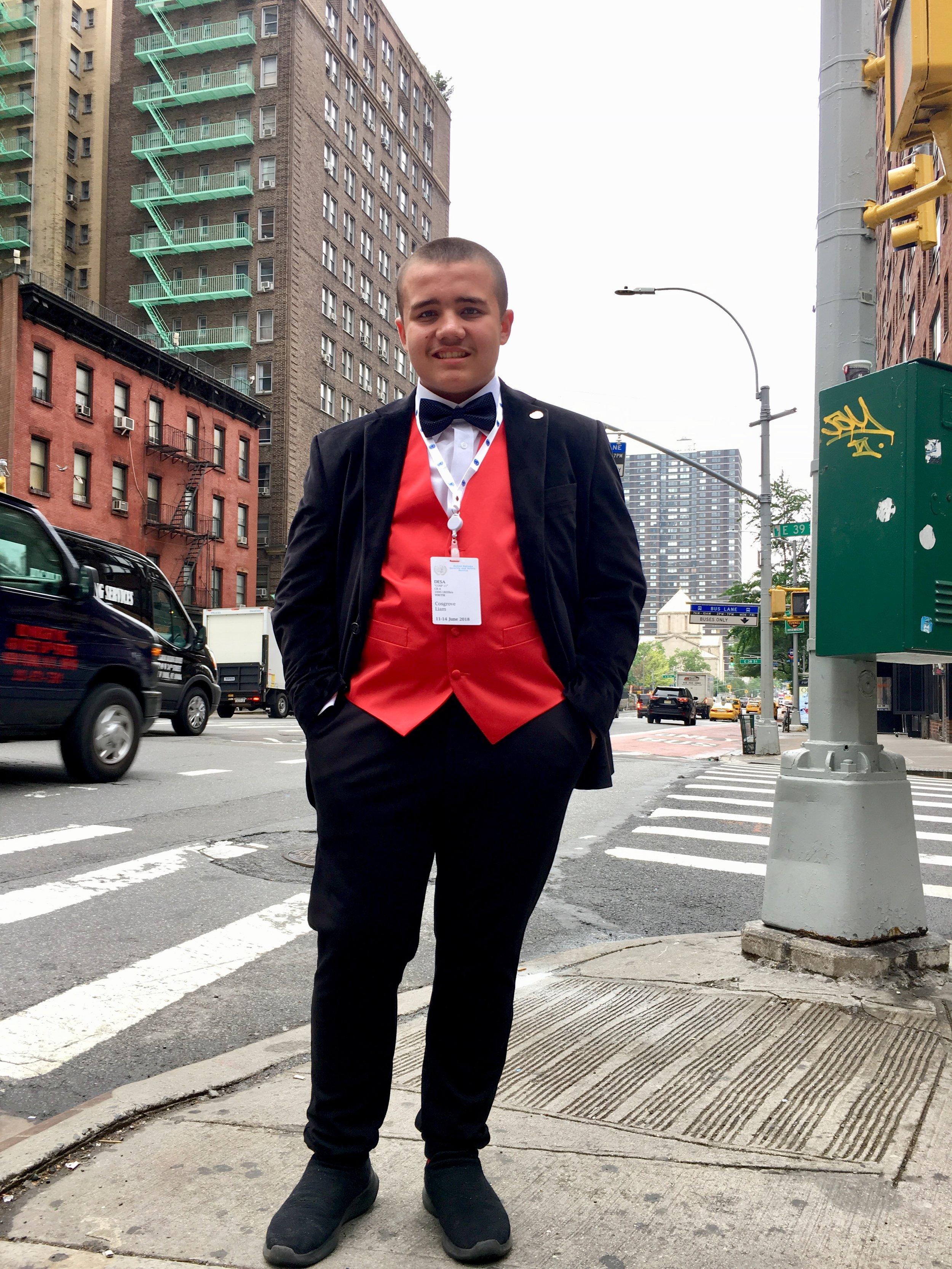 Liam à Manhattan