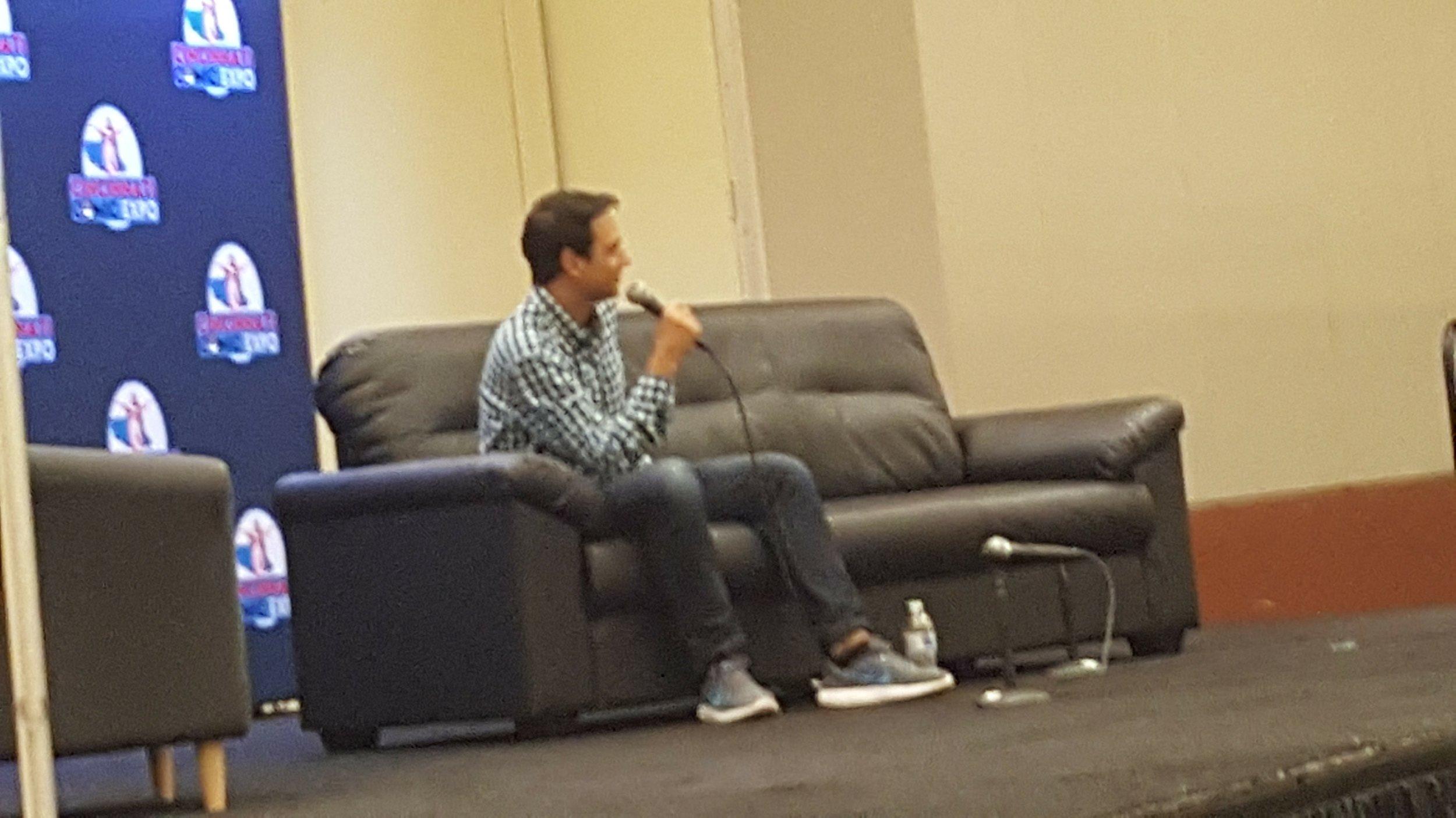 Ralph Macchio speaking at his Panel