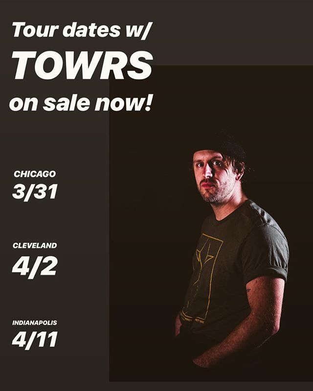 New tour dates w/ @towrsmusic on sale now!  Chicago • @lh_schubas  Cleveland • @beachlandcle  Indianapolis • @do317 + @mokbpresents