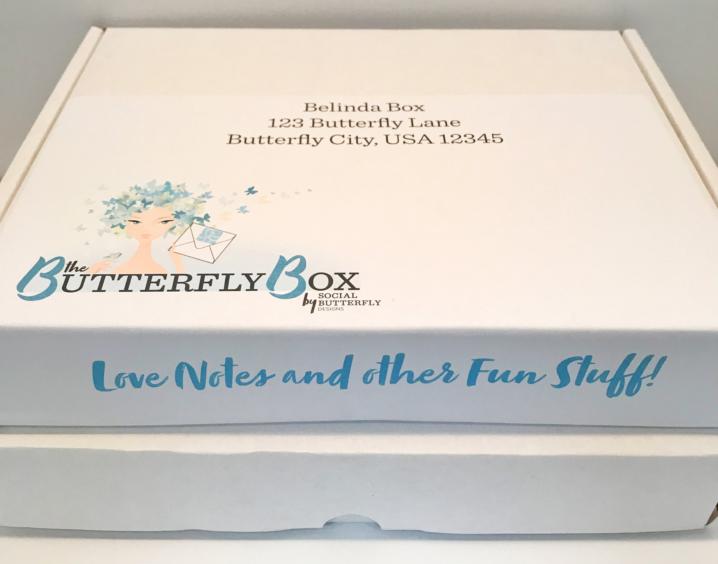 The Butterfly Box  - Full Year/4 Boxes Delivered QuarterlyWinter/Spring/Summer/Fall5 greeting cards + one pack of 8 notecards + at least 2 awesome lifestyle items + Stamps $240 Value for $195 (single payment, includes shipping) or $49 for single boxBest Deal....Save $45!