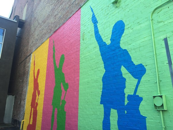 The Vulcan Mural Project adds color to the streetscape on 19th Street North between Third and Fourth avenues.