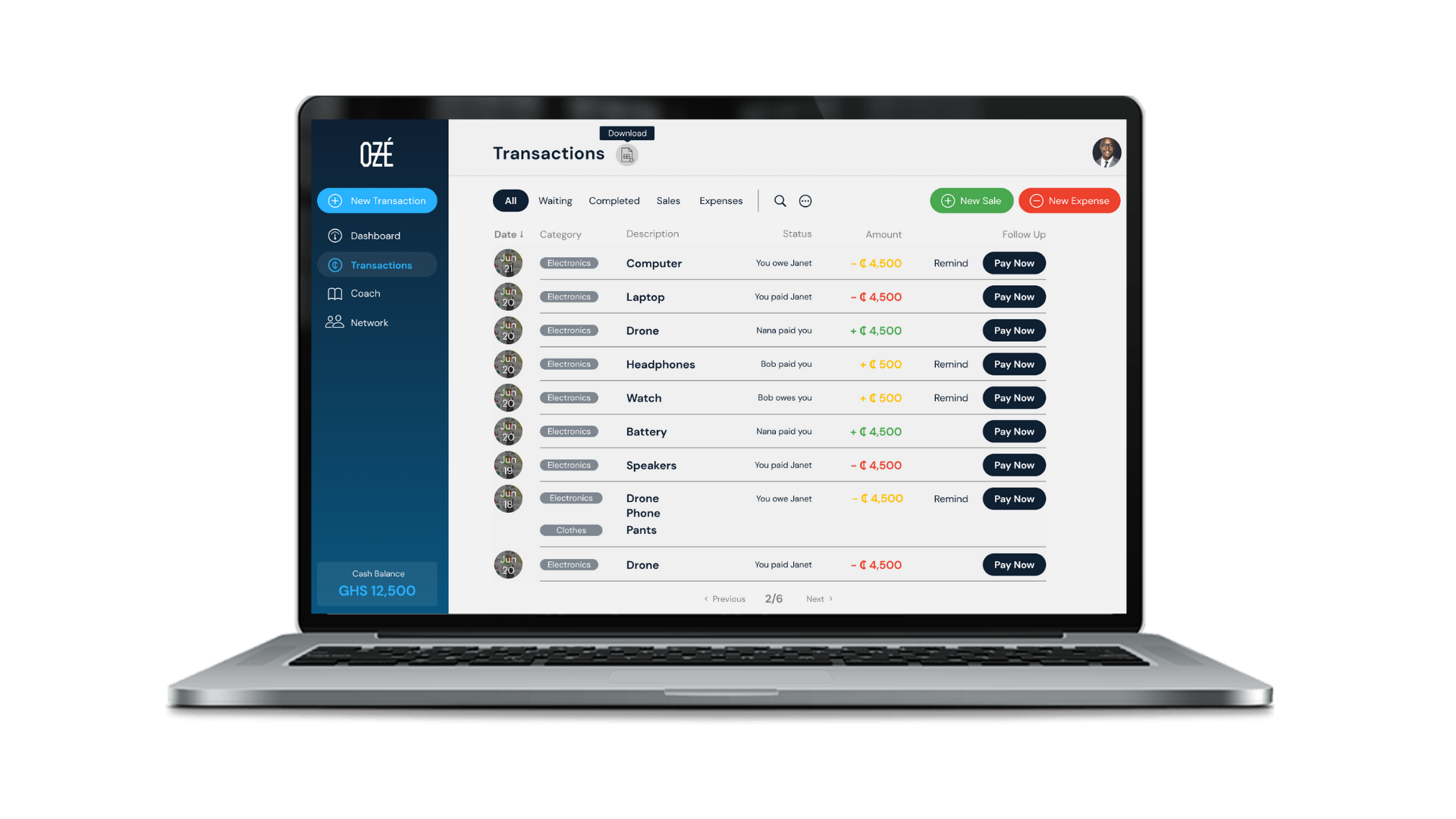 Track your sales and expenses on the go (even offline!).