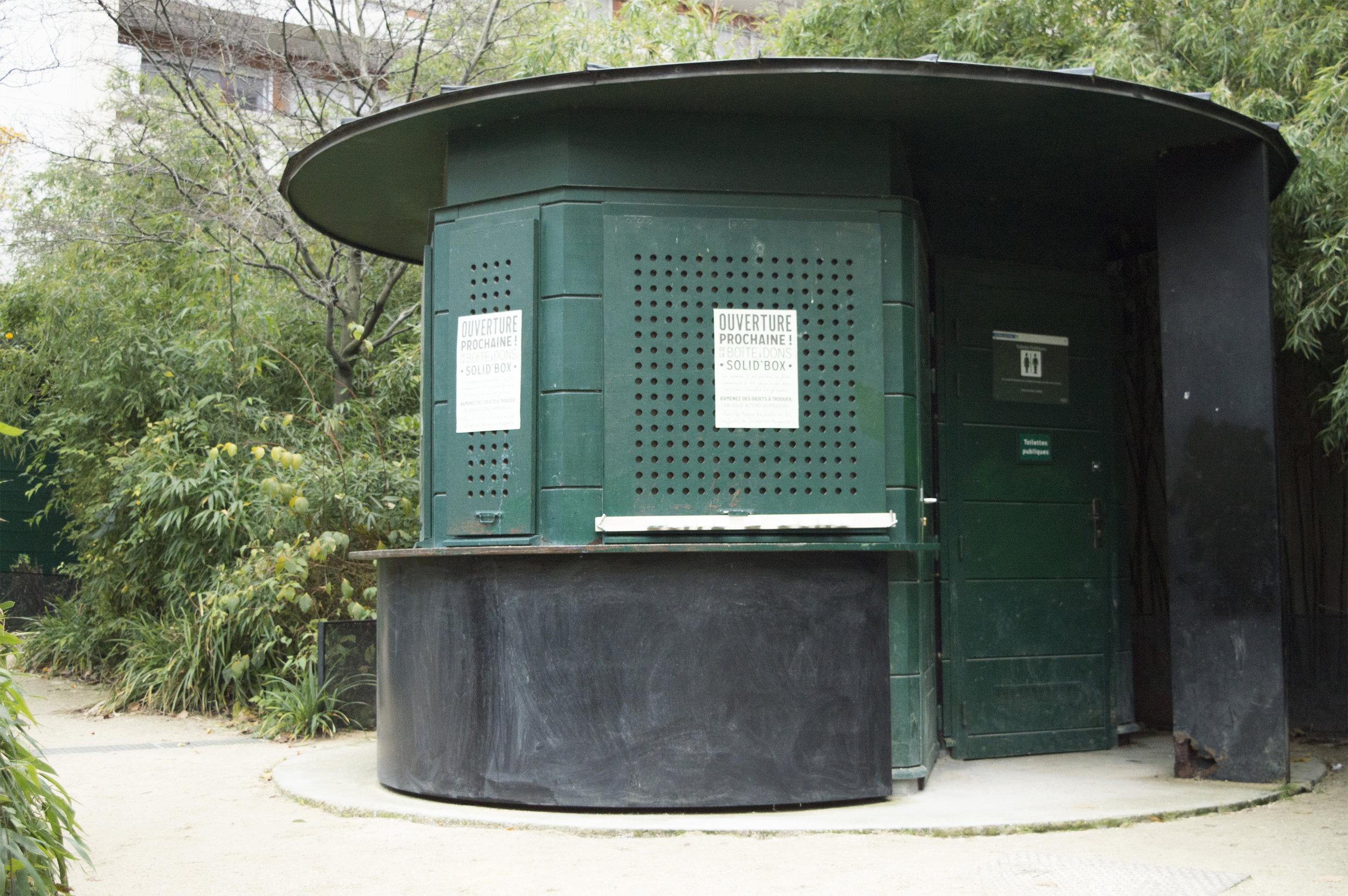 Le kiosque fermé