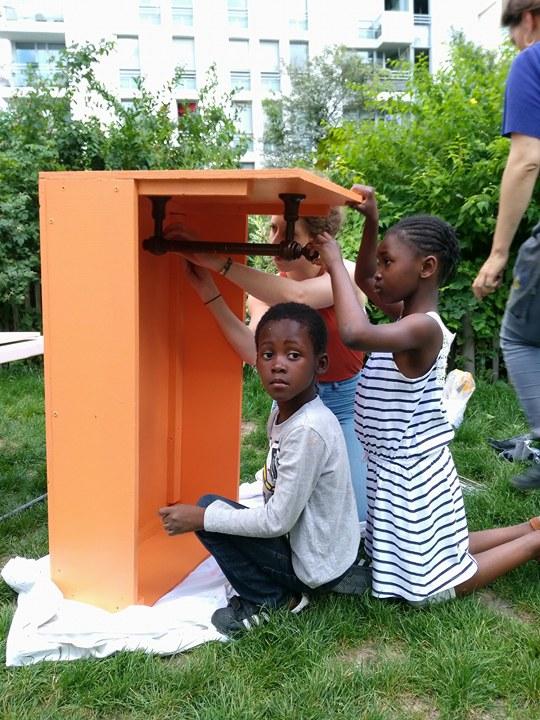 Les enfants de Solidarité Roquette ont participé à toutes les étapes de la fabrication