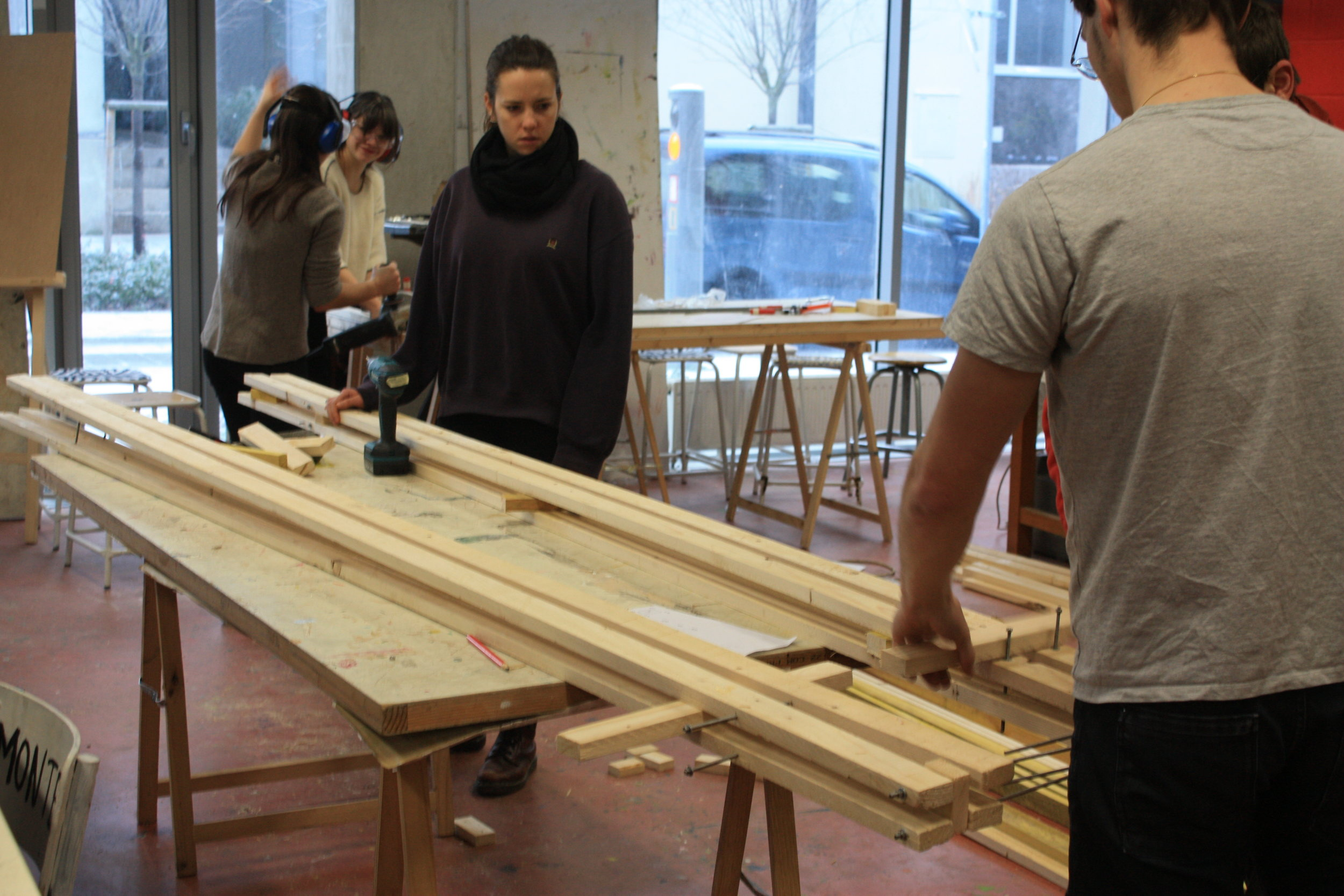 Préfabrication des éléments porteurs en atelier