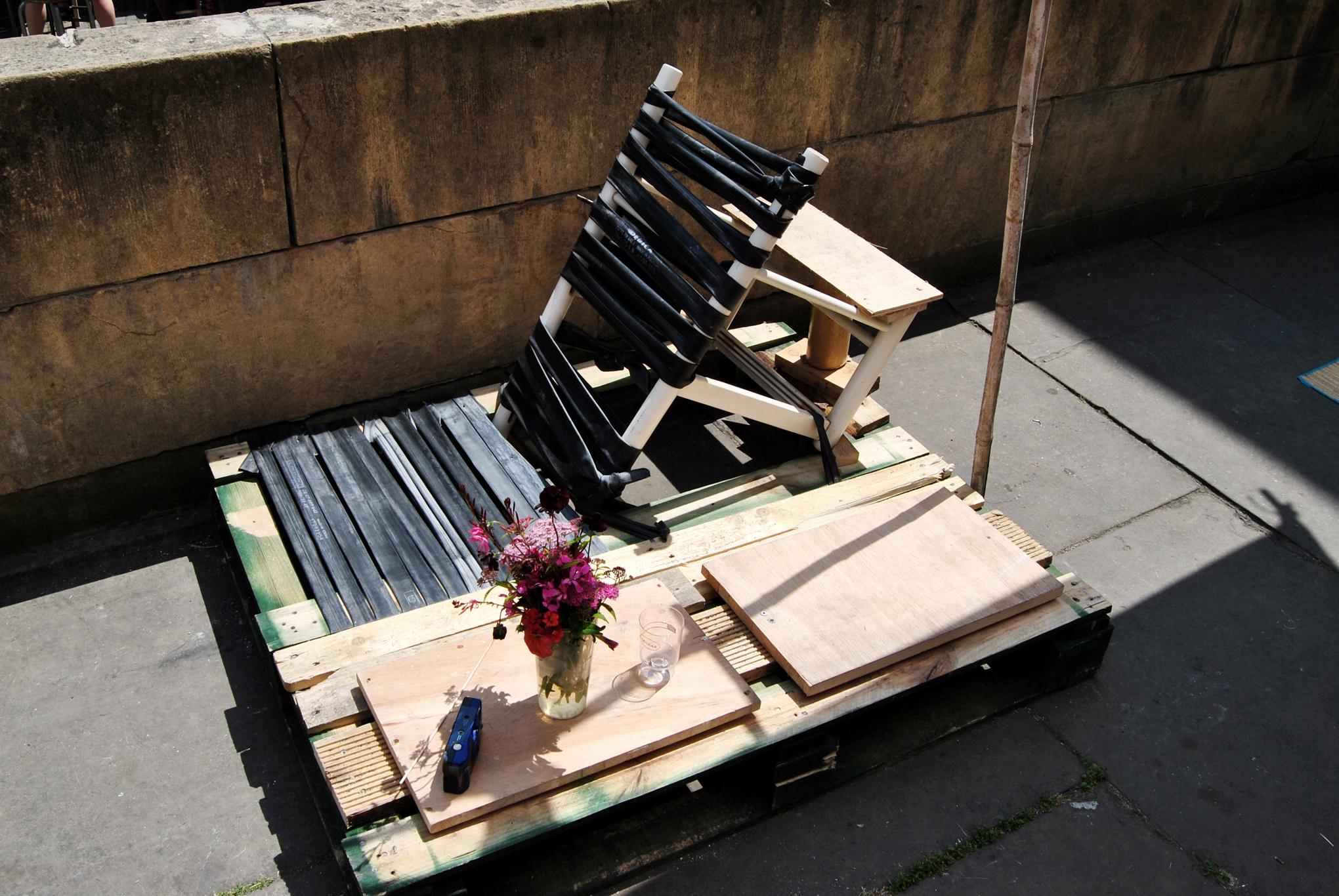 Chaise longue en chambres à air