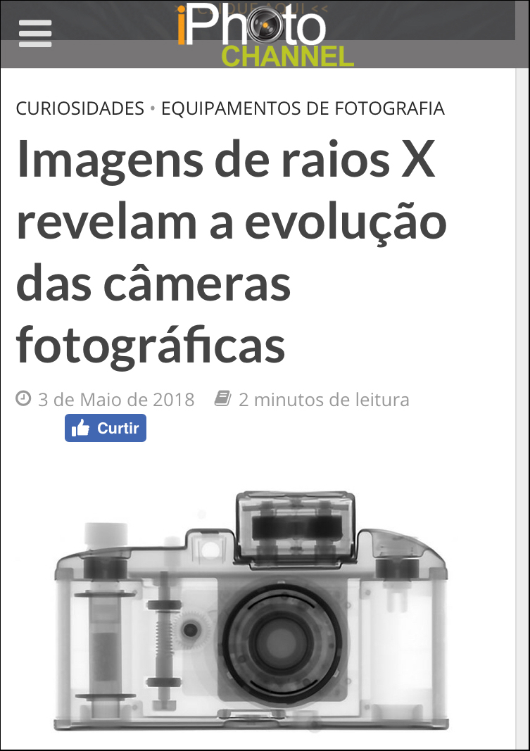 X-ray images reveal the evolution of photographic cameras  May 3, 2018