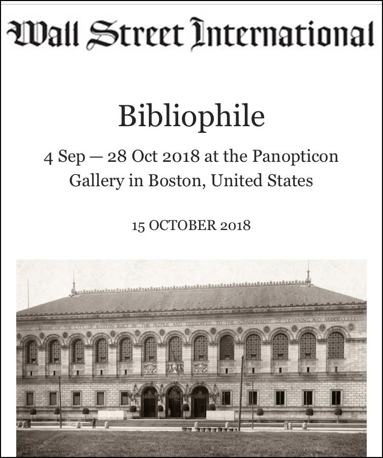 Bibliophile at Panopticon Gallery October 15, 2018