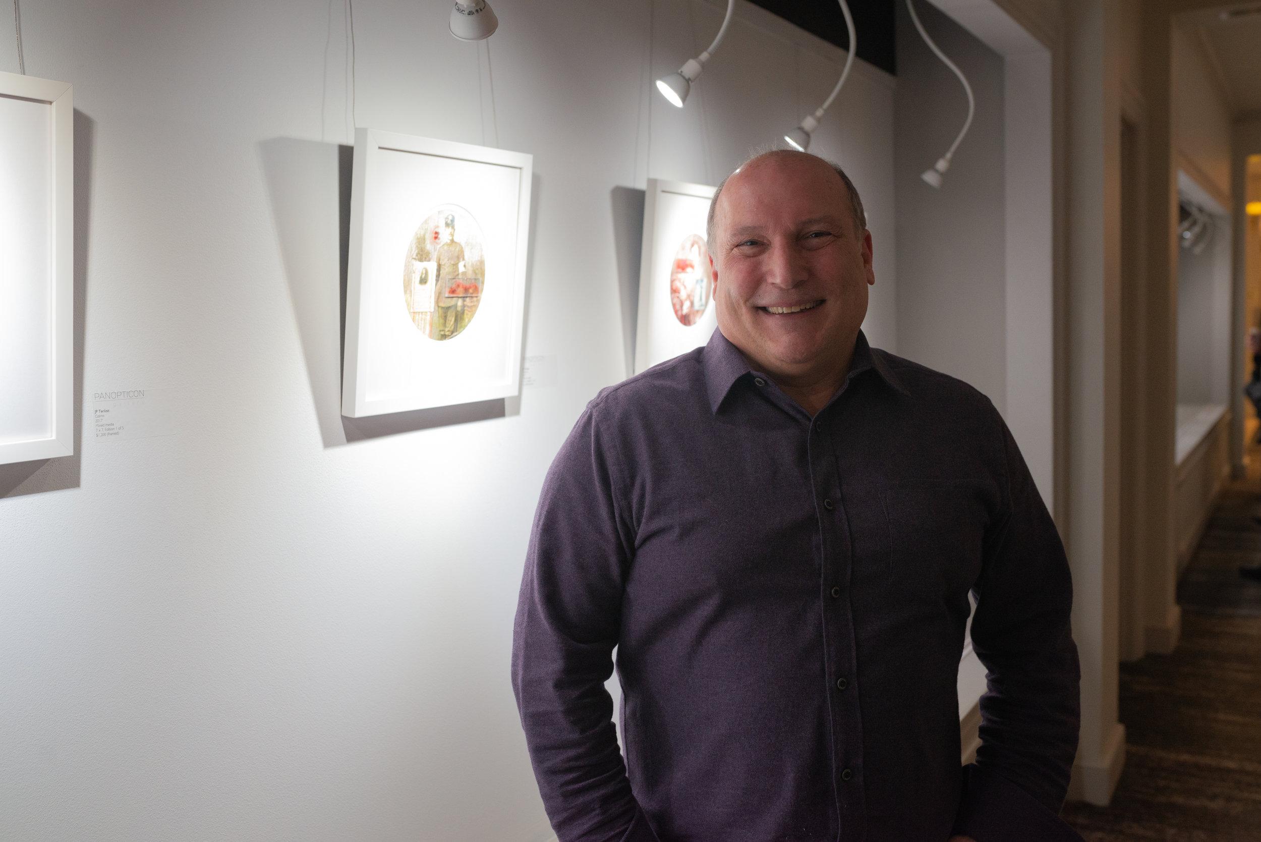 JP Terlizzi, Portrait in front of work