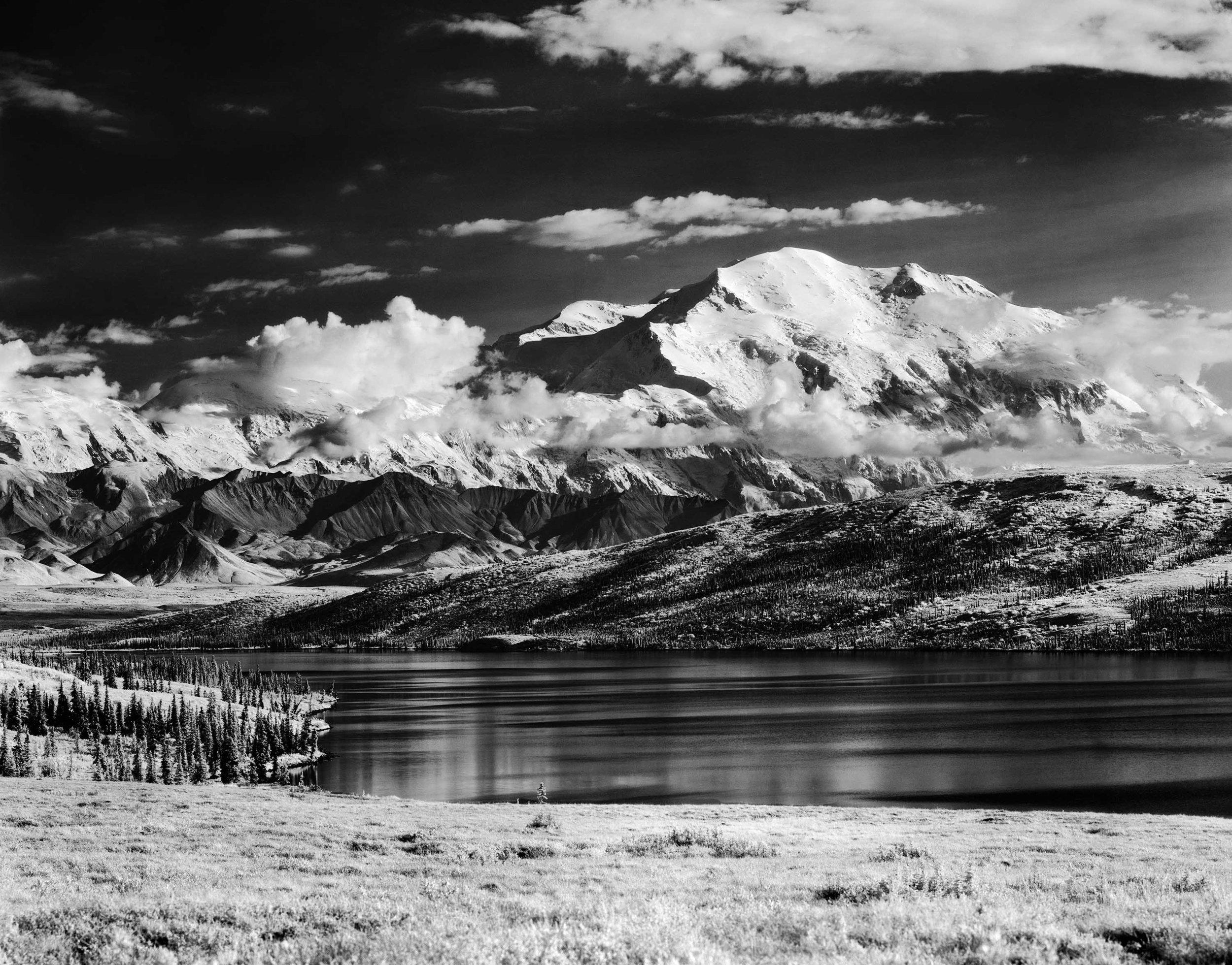 Mount McKinley Looms Over Wonder Lake, Alaska