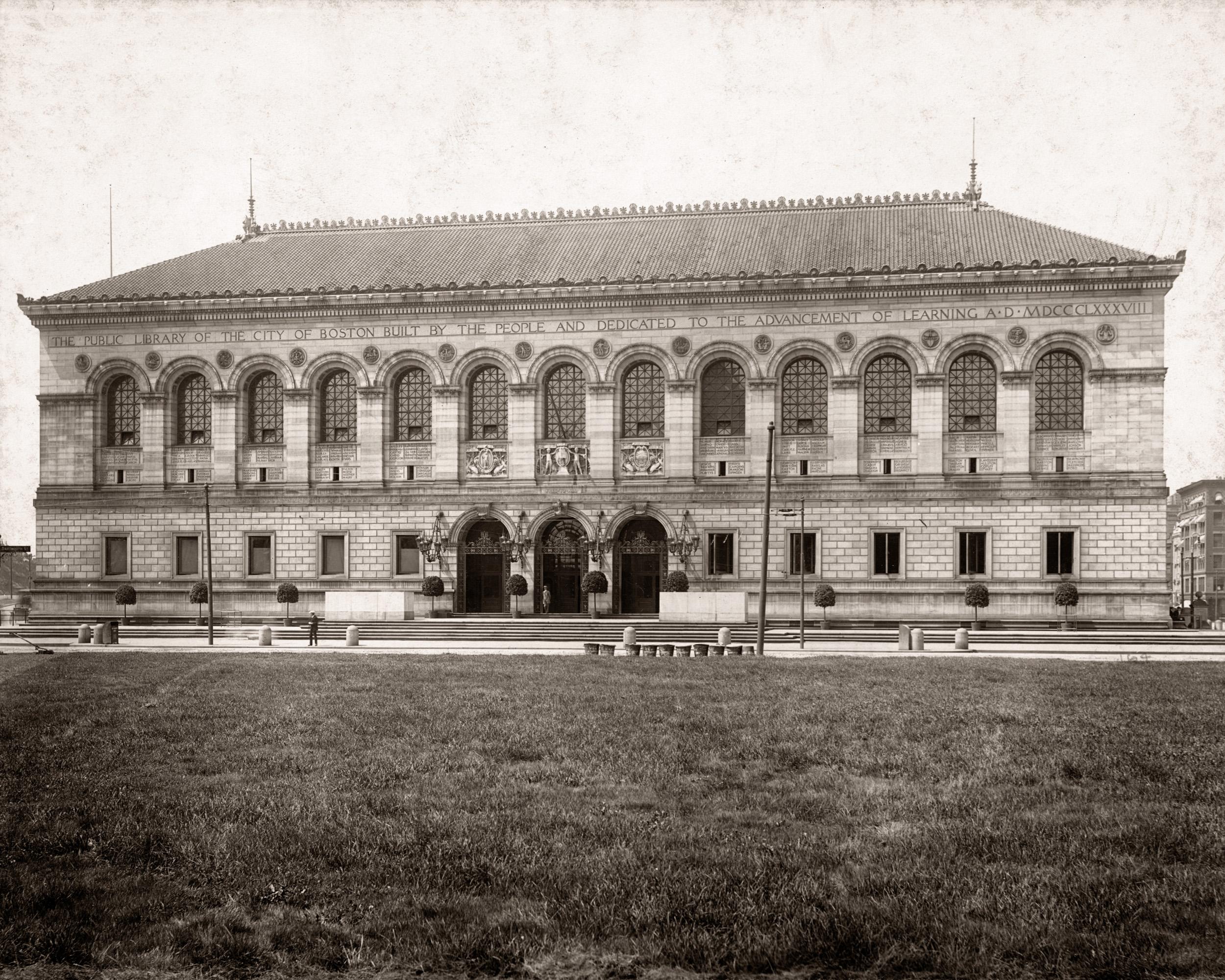 Boston Public Library, Copley Square Facade