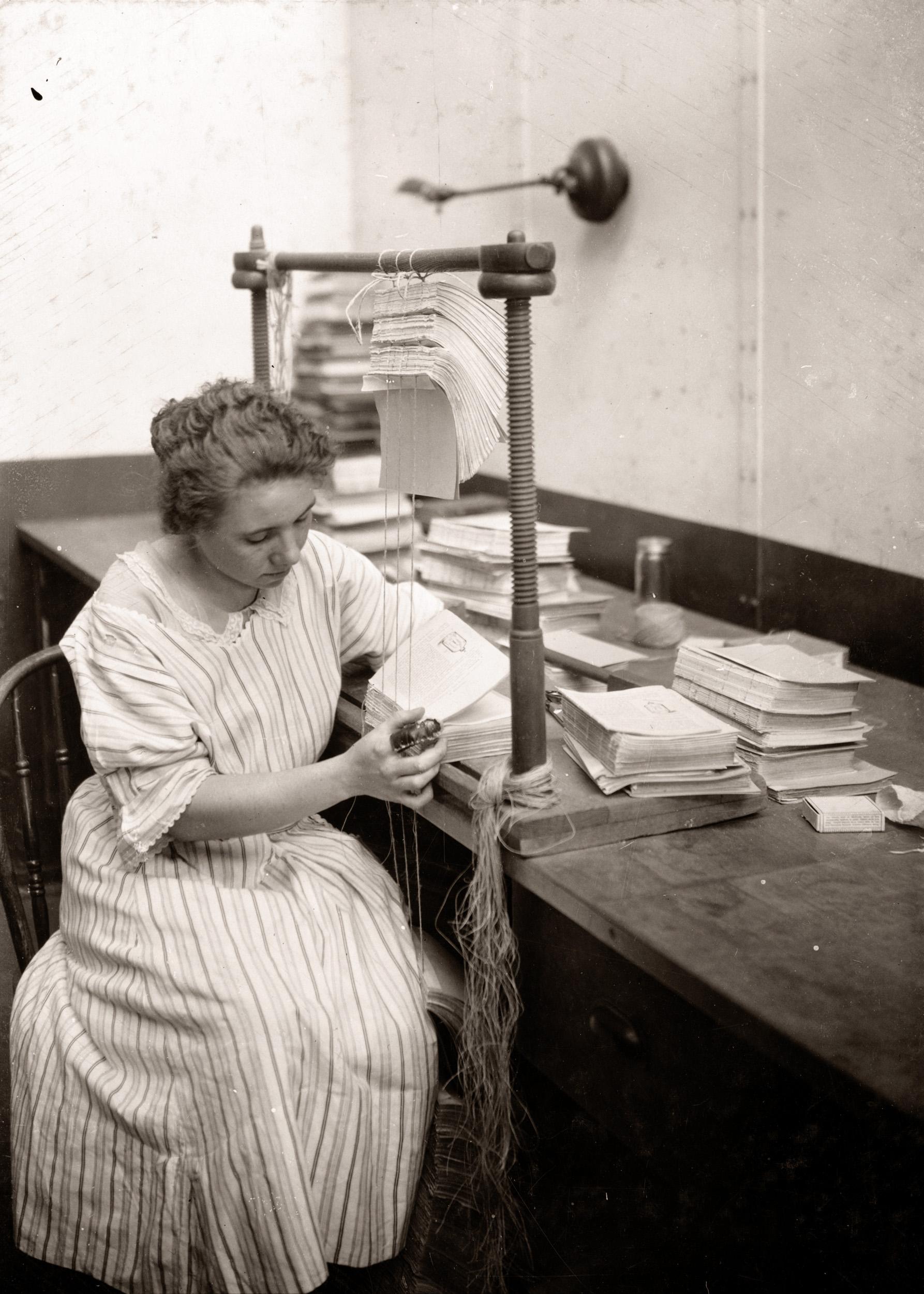 Boston Public Library Bindery, Mary Dornan