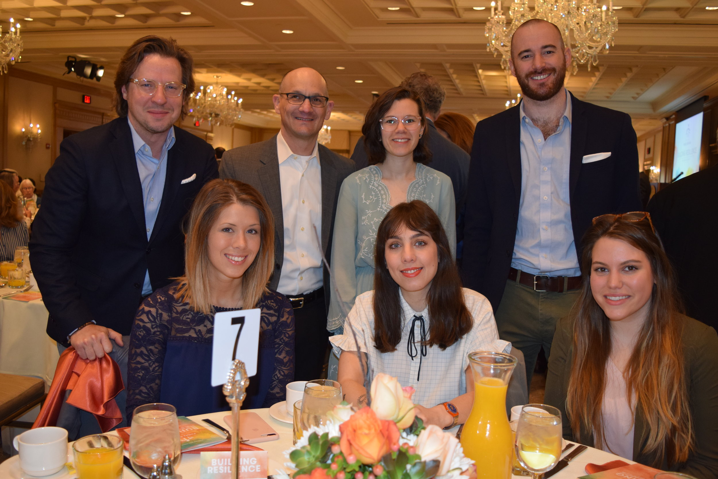 Representatives of breakfast sponsors  Seeds marketing + design  attended the event.