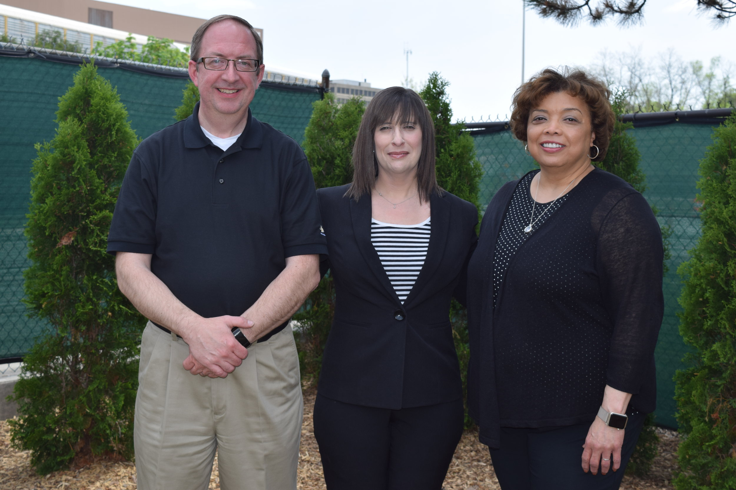 Tom W. Wickham, manager of Plant Communications,Oakland Family Services President/CEO Jaimie Clayton, and Joya L. Shepard, personnel director at General Motors'Orion Assembly and Pontiac Stamping plants.