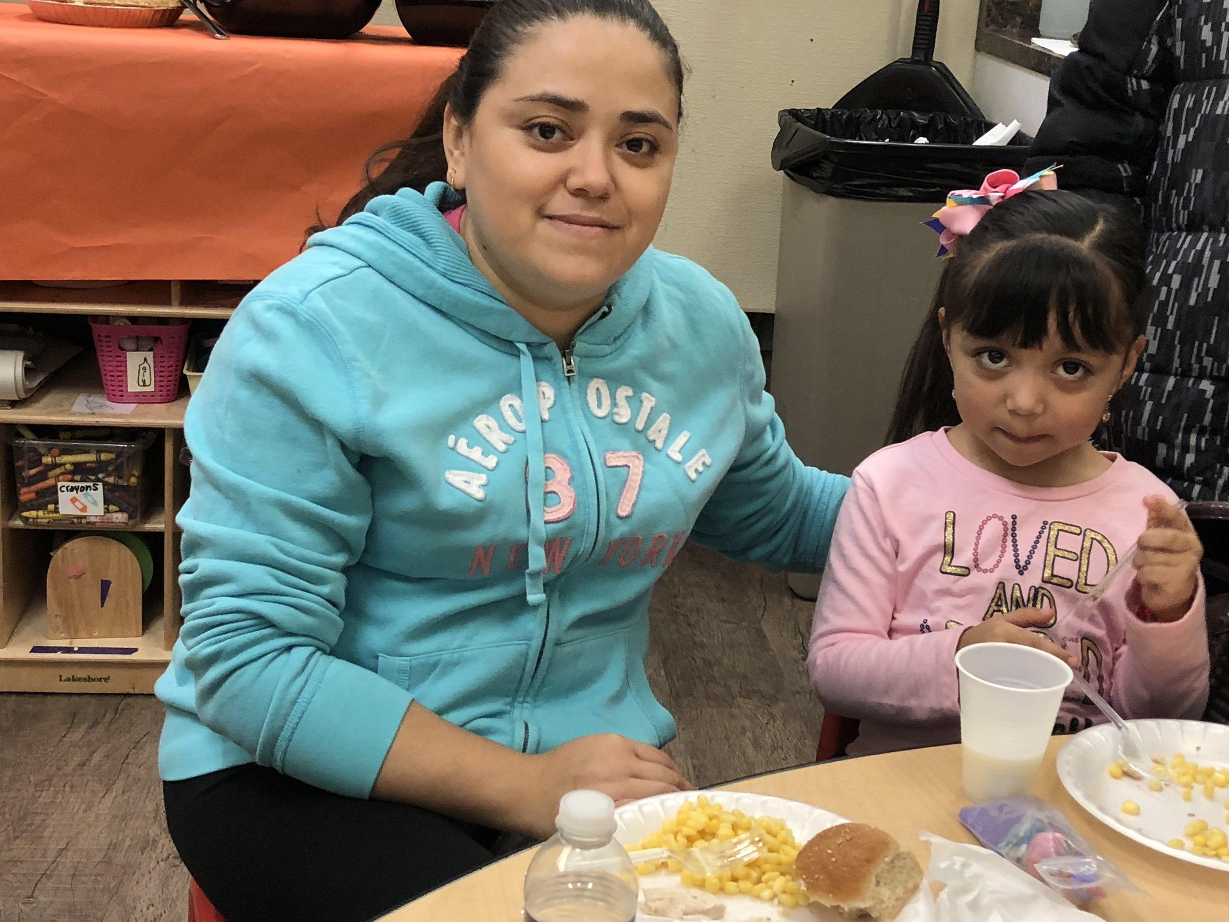 Maribel Bustos with her daughter, Valentina.