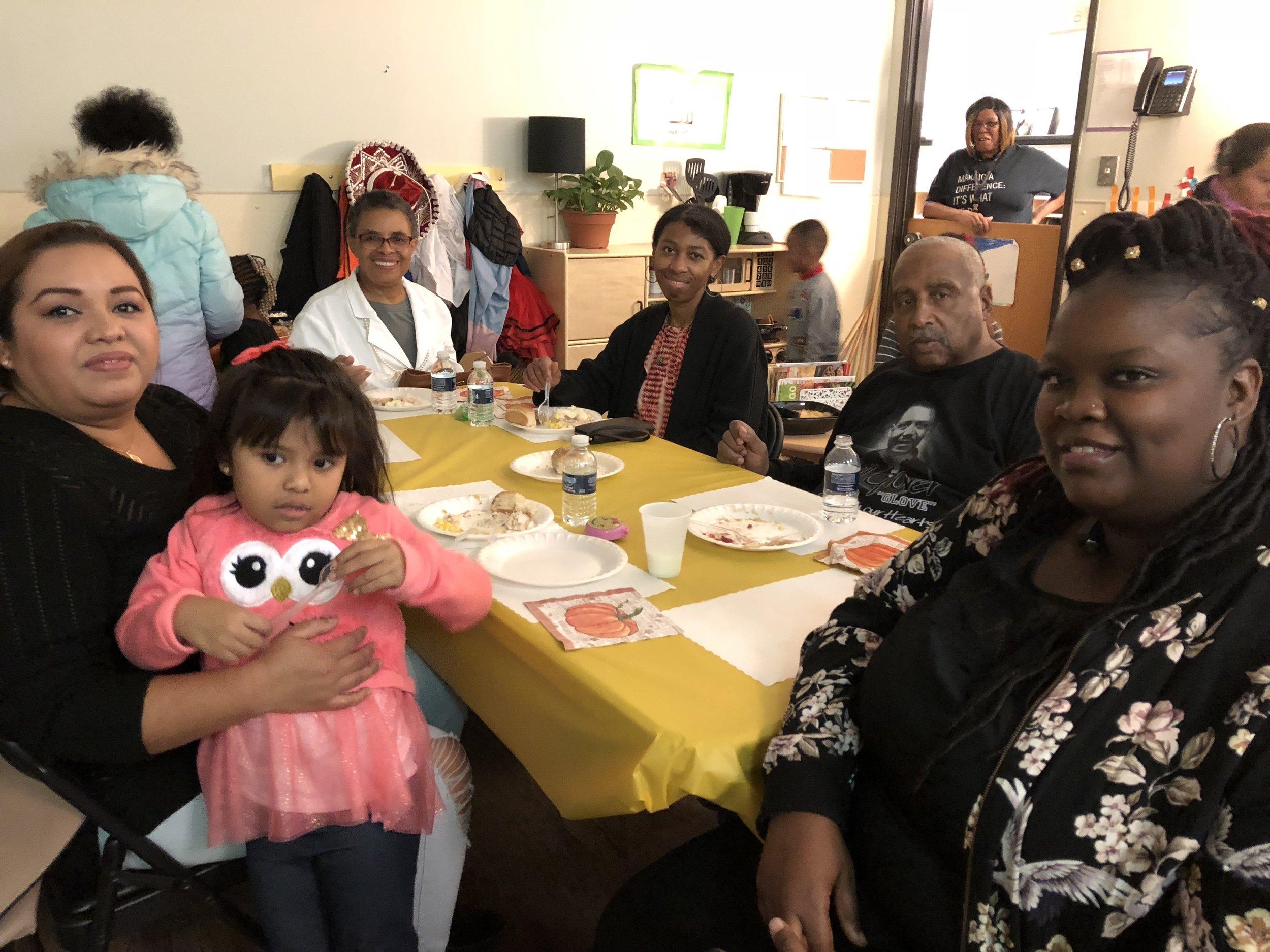 Family members celebrate Friendsgiving.