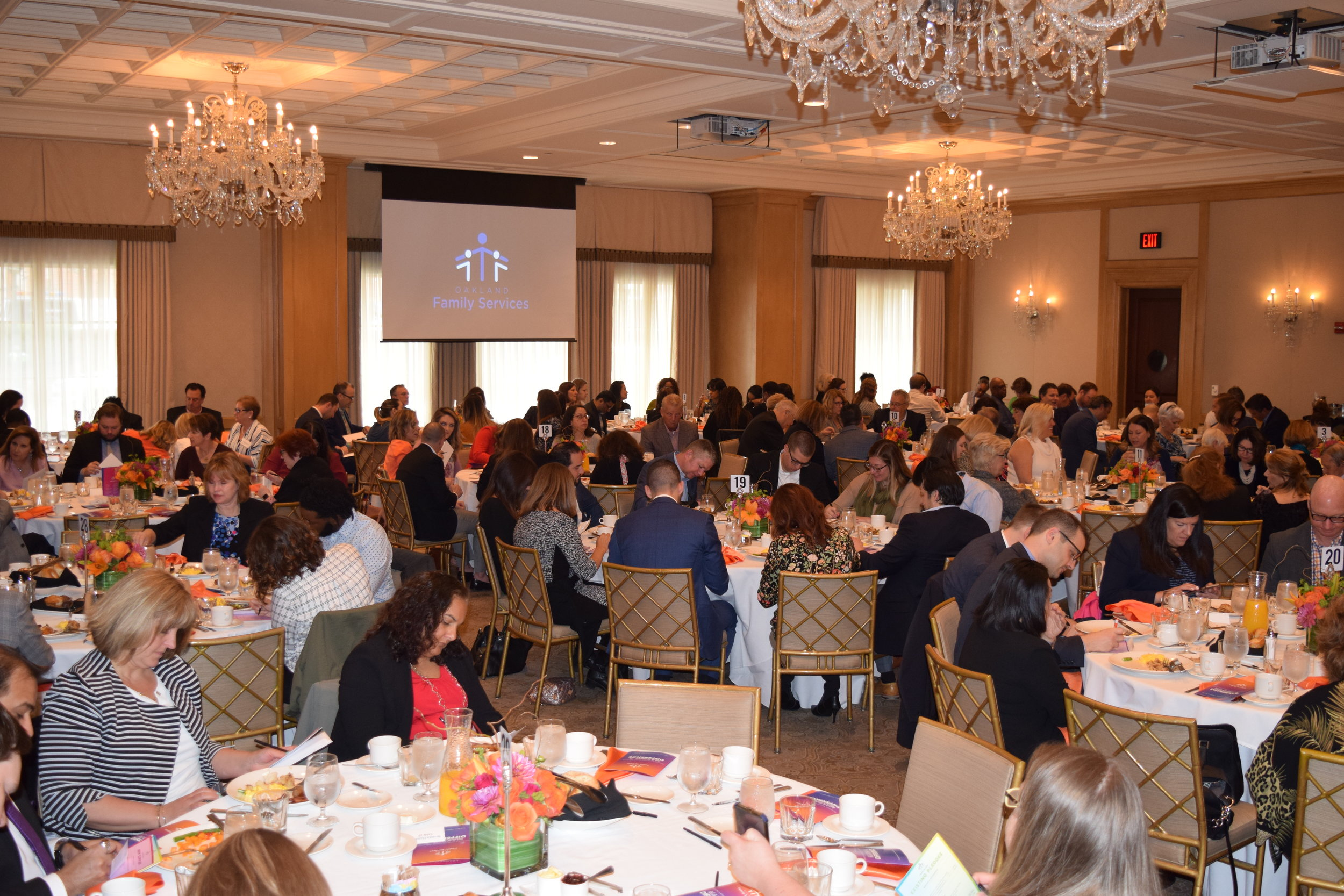 More than 300 people attended the Building a Brighter Future Breakfast.