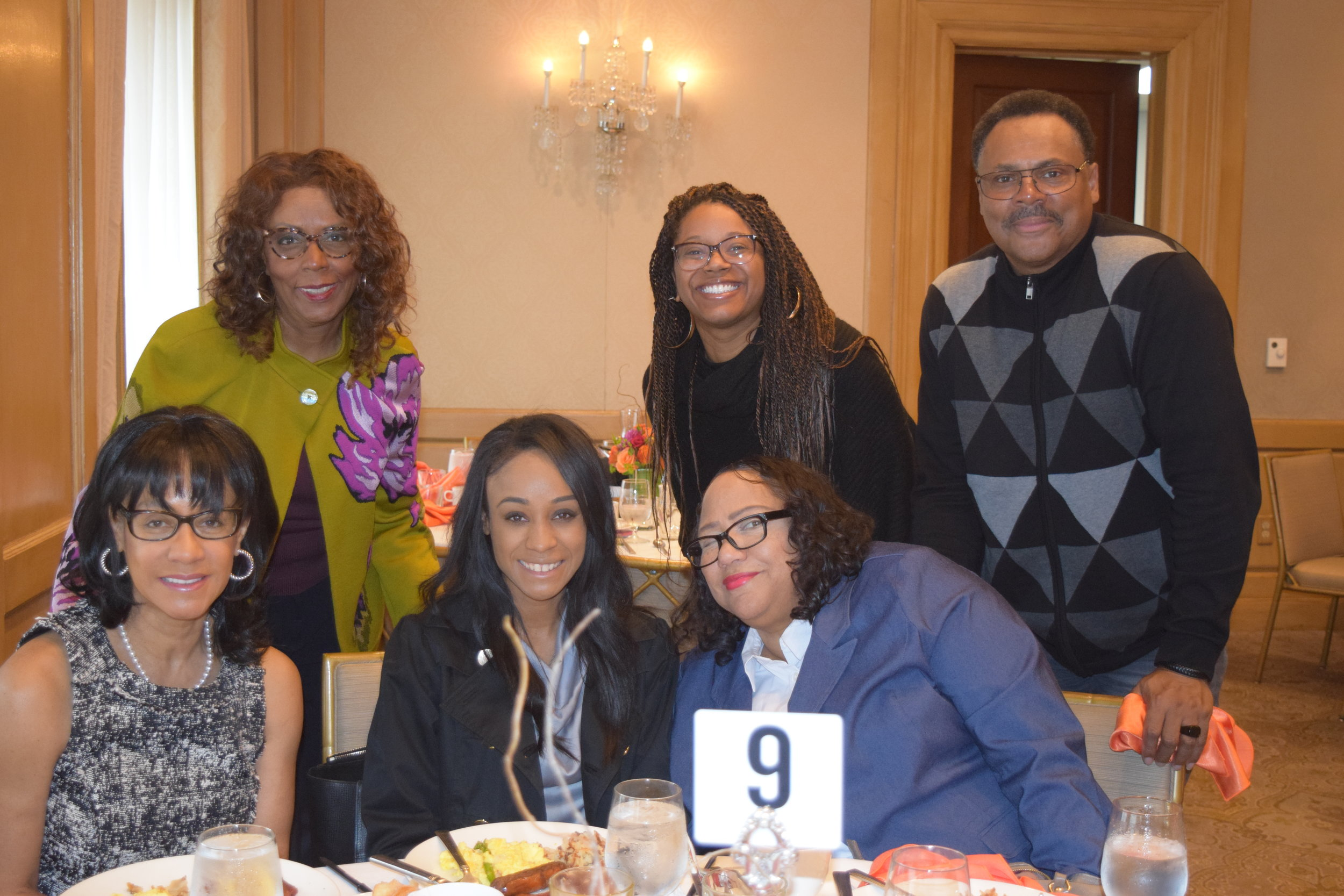 Board member Alyssa Moten and her guests joined us at the breakfast.