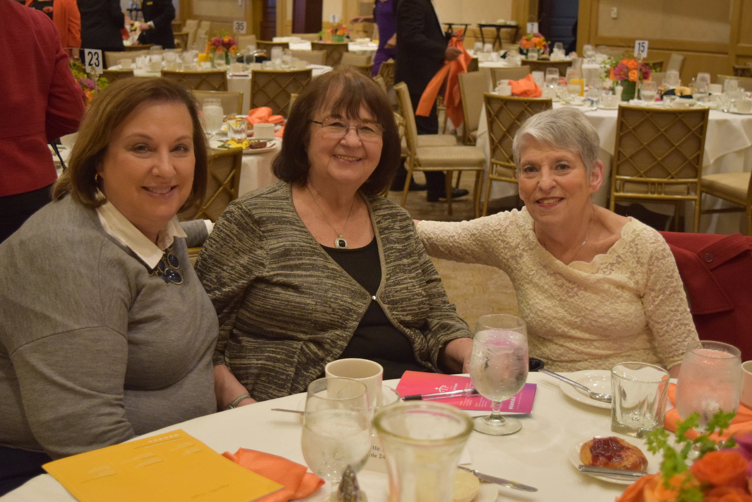 Attending the breakfast were Charlotte Paul, Catherine Marchione and Beverly Landau.