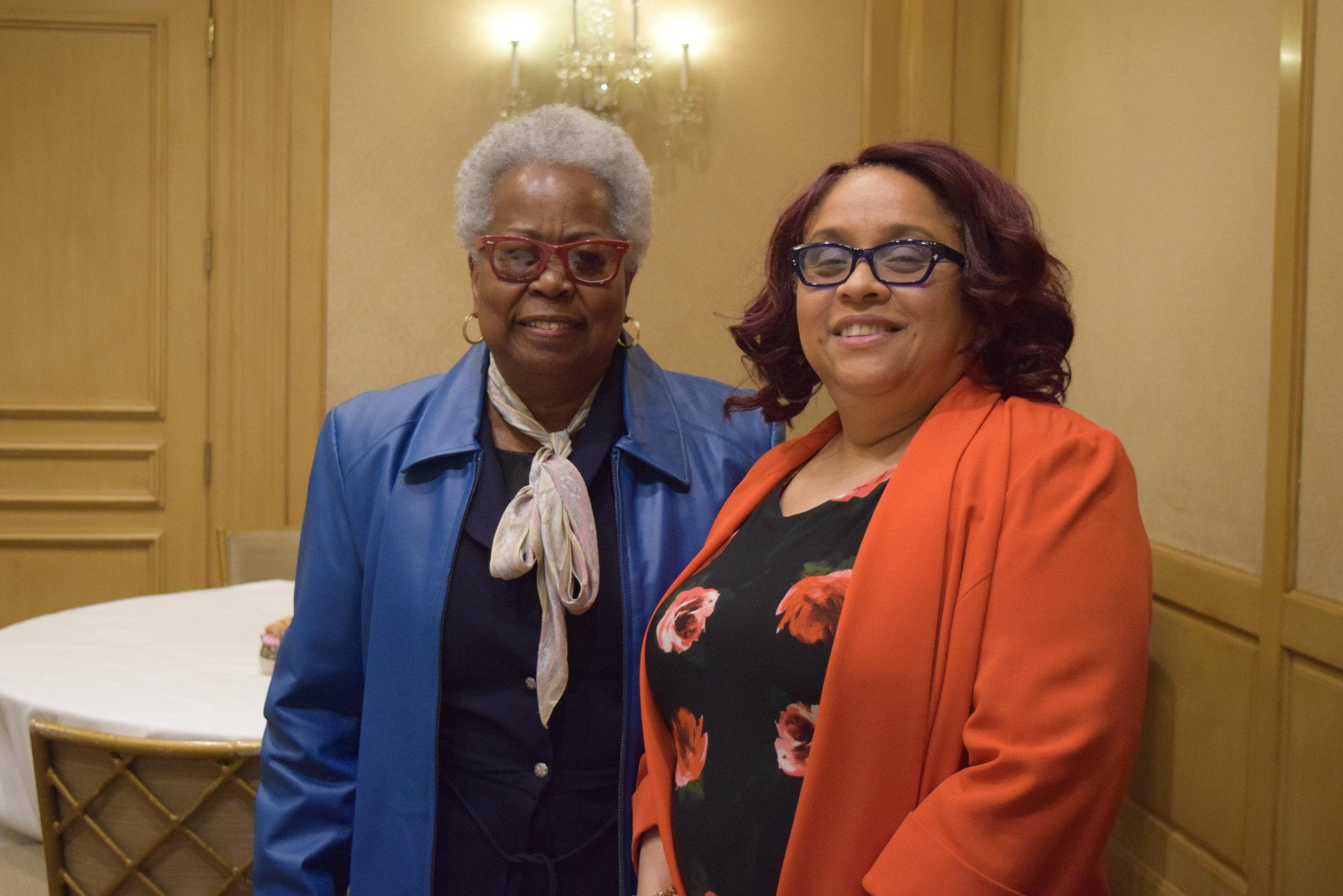Lula Gardfrey with board member Dr. Andrea Pennington.