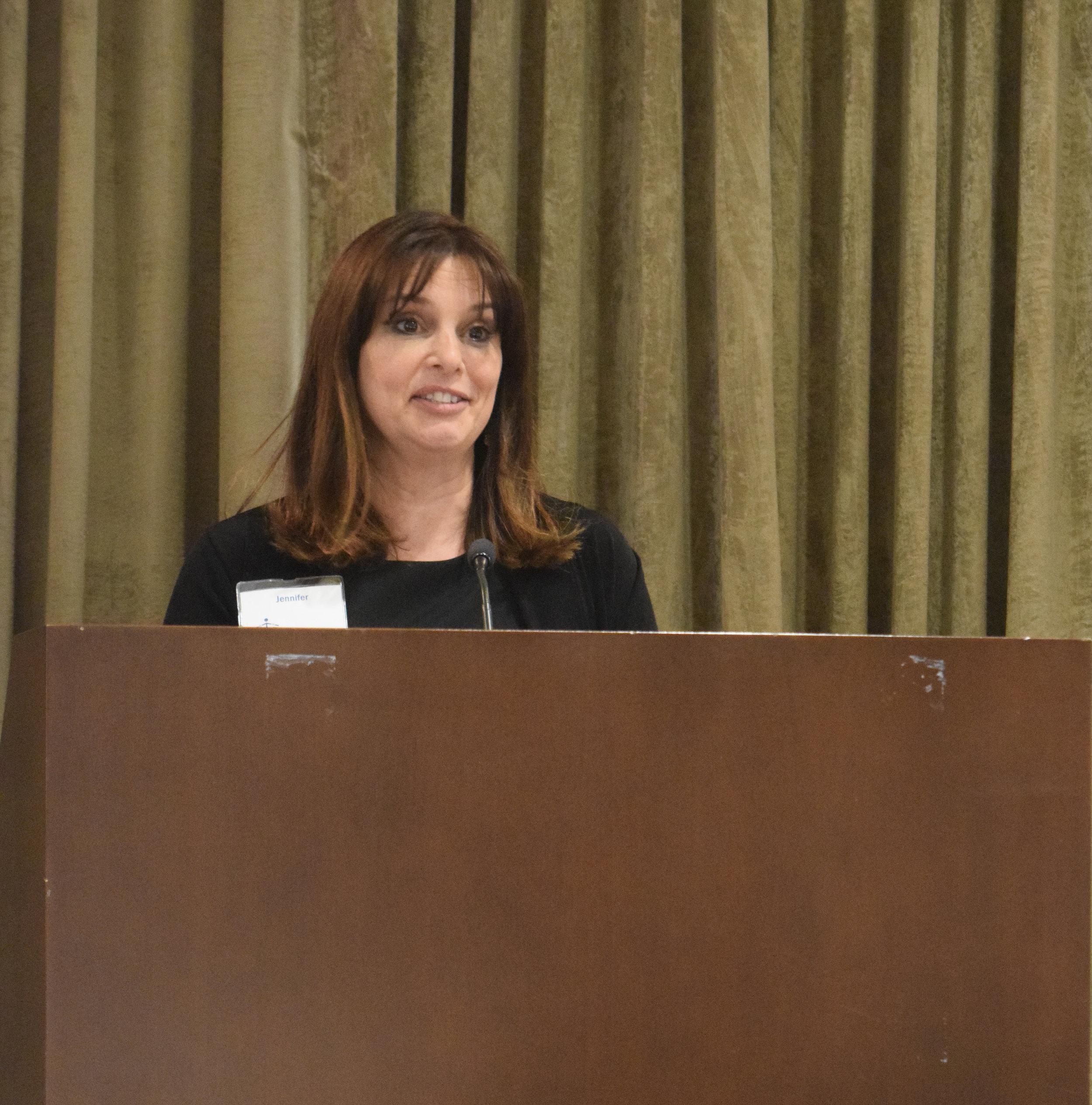 Jennifer shares her story at the Celebration Event.