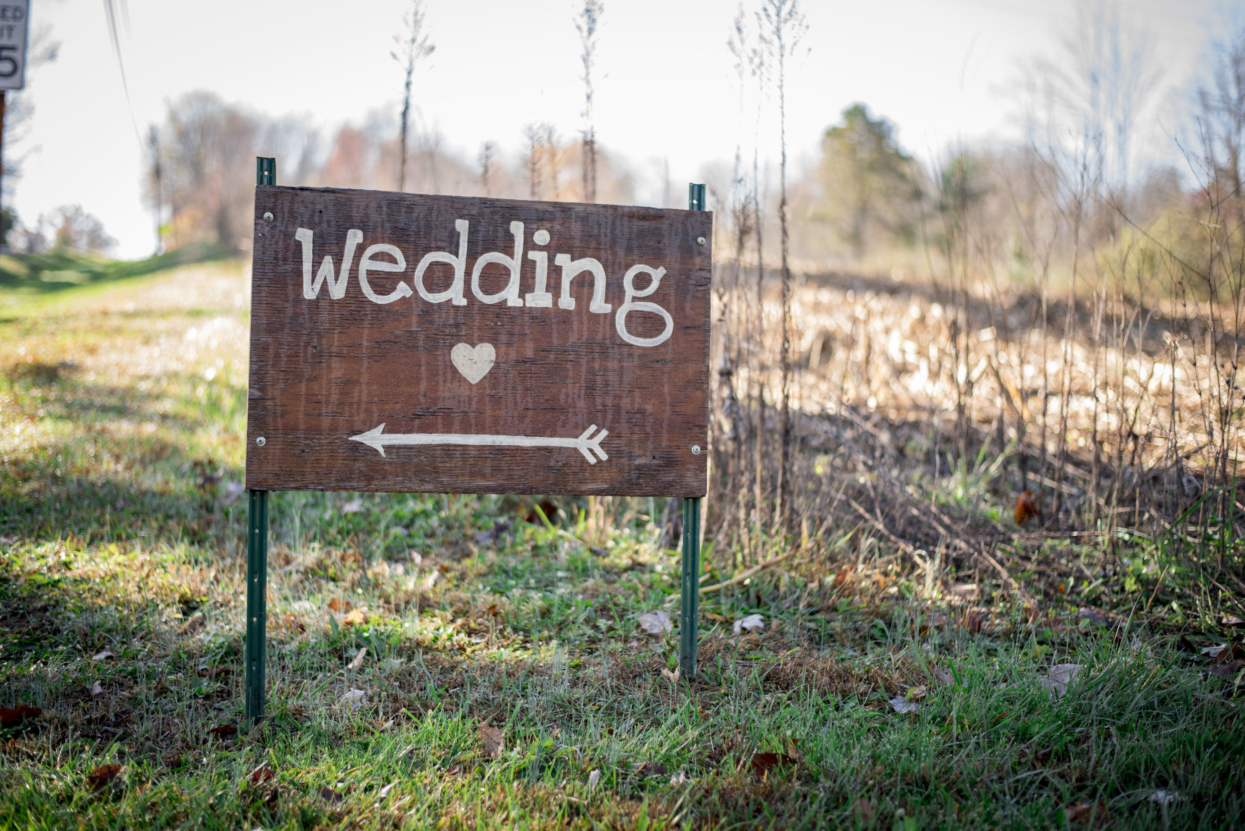 Wedding Sign at Little Brook Meadows in Lancaster