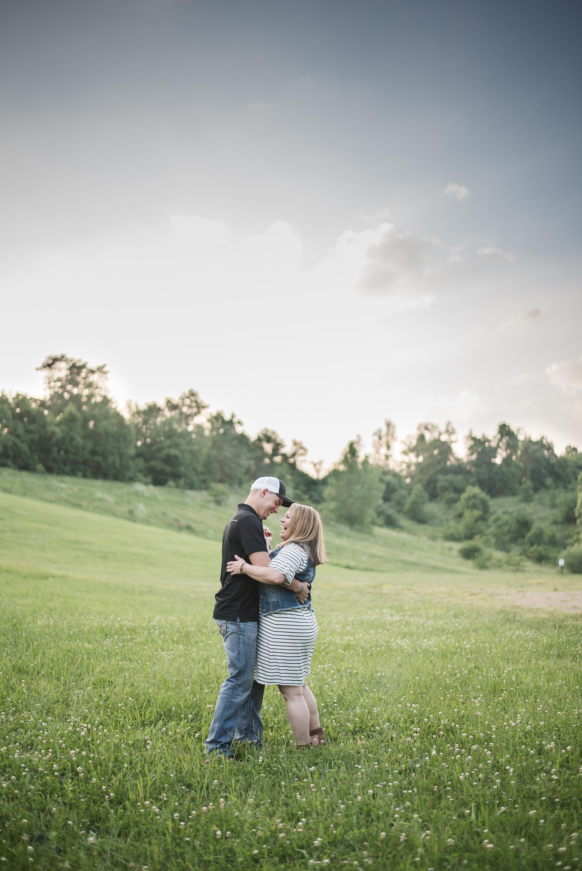 sunset sky bride and groom kissing alley park lancaster