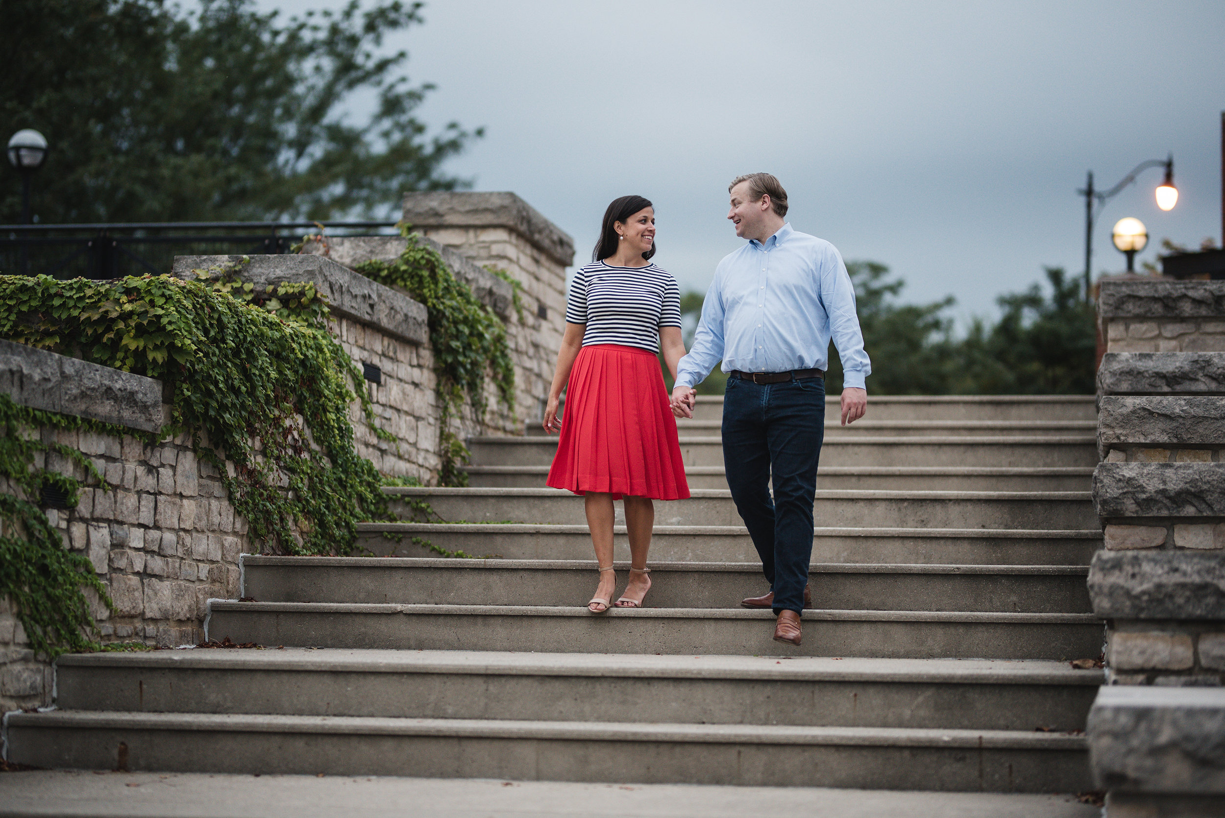 Wedding Photographer in Columbus Ohio North Bank Park Pavillion Engagement