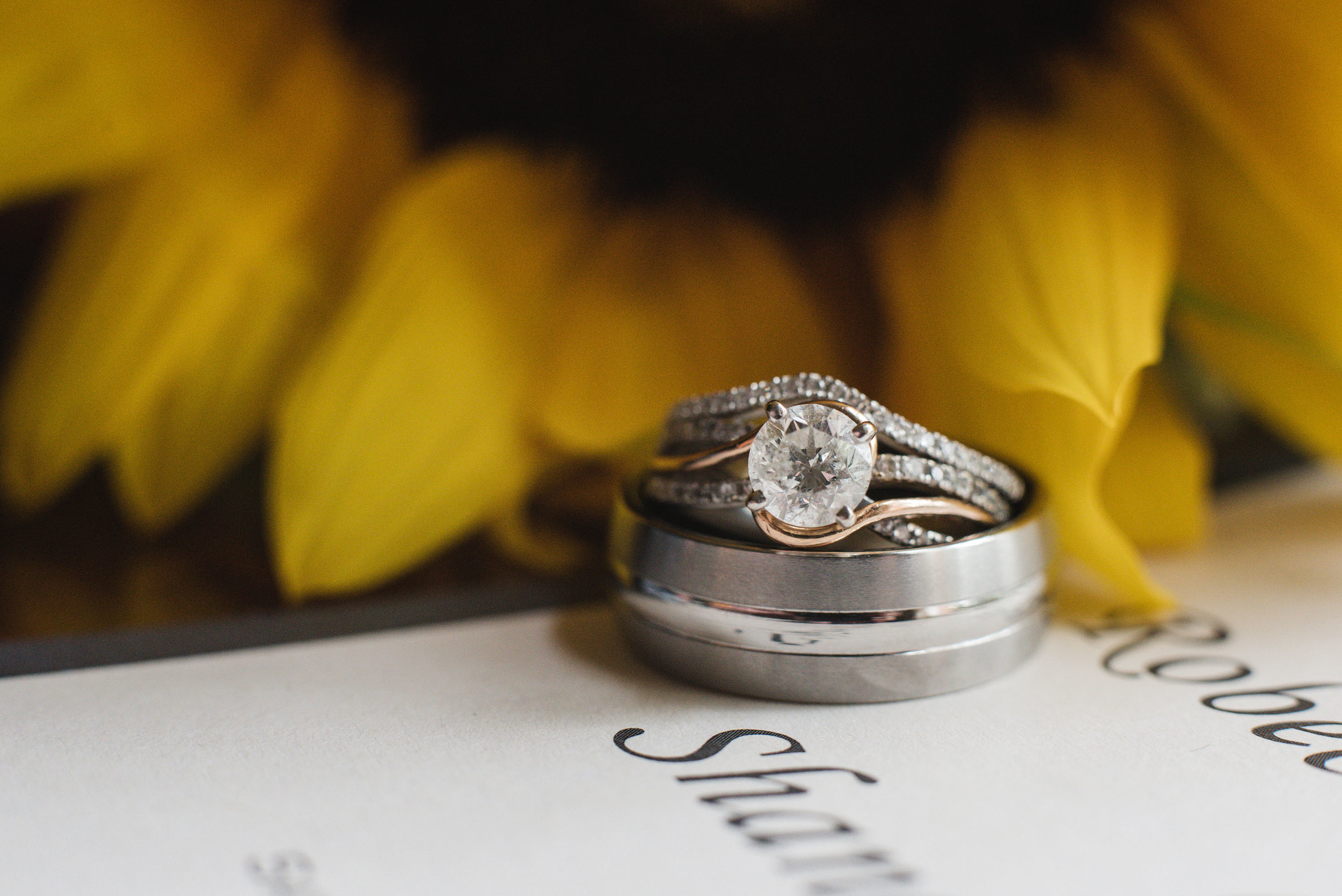 Ring shot at little brook meadows lancaster ohio wedding