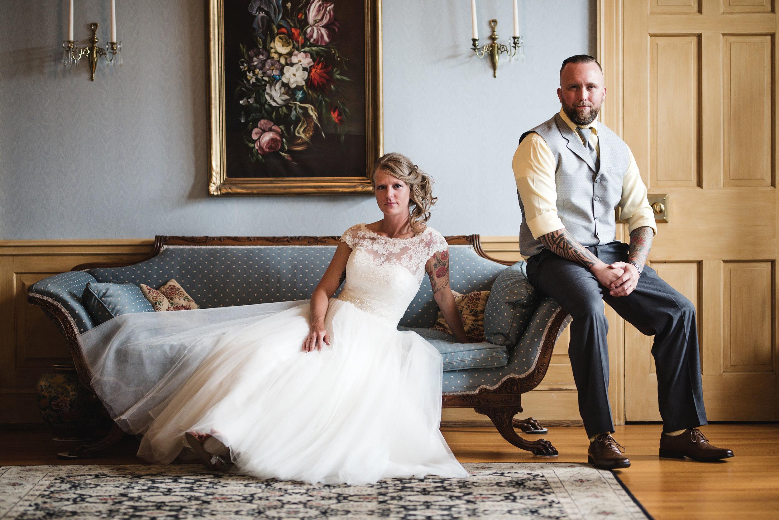 lancaster ohio wedding photographer portrait of bride and groom