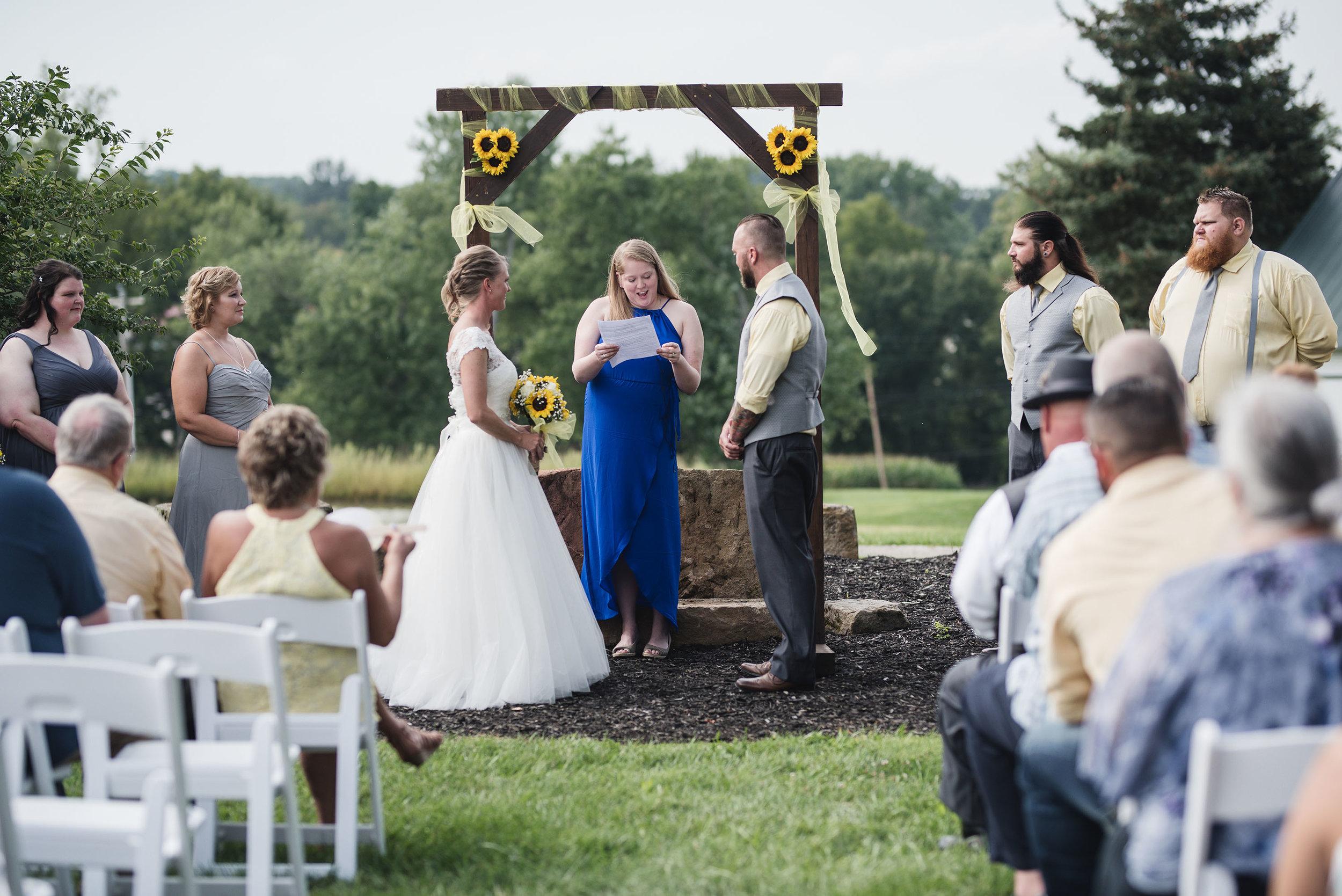 lancaster ohio wedding photographer wedding ceremony lancaster ohio