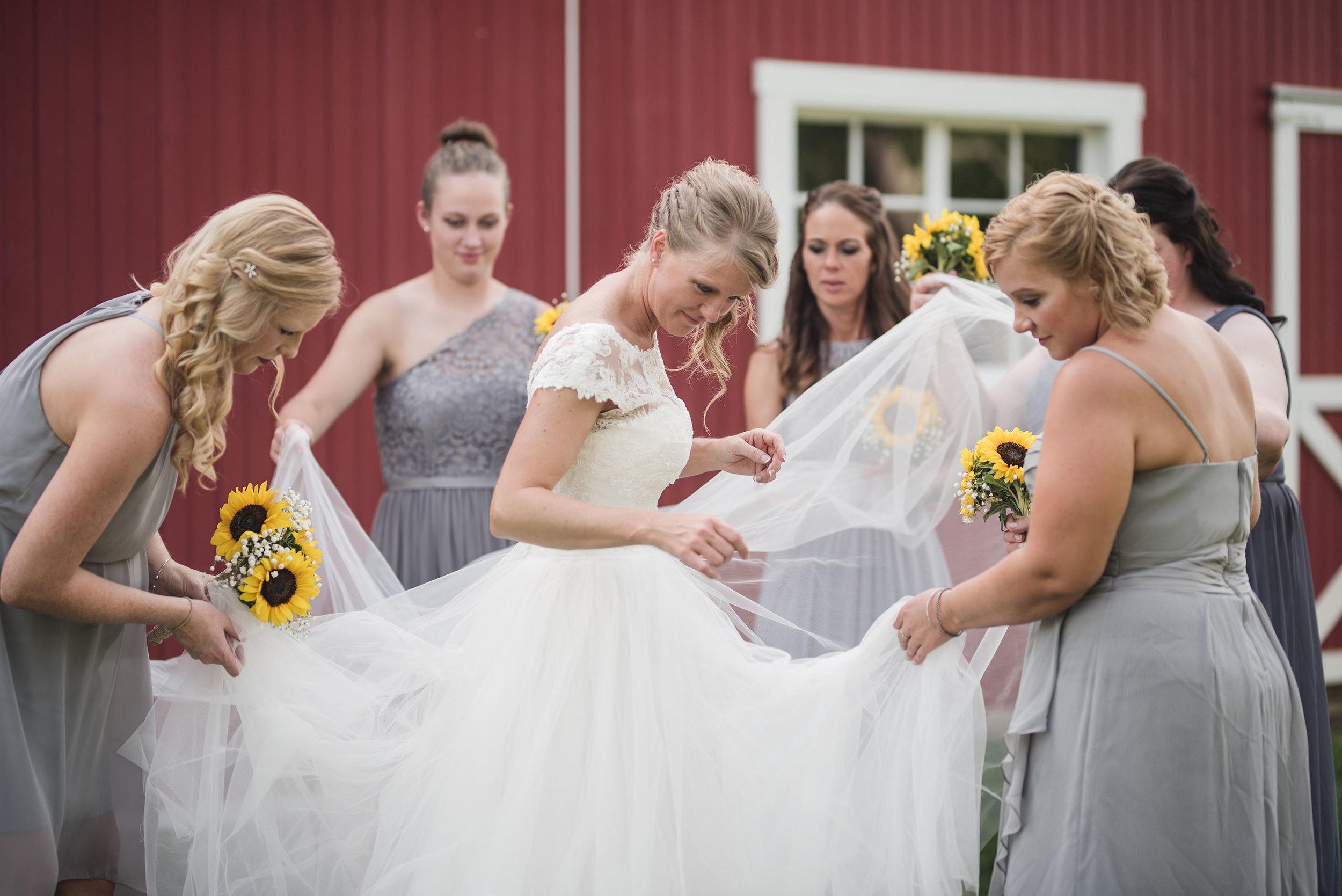 bridesmaids wedding at little brook meadows lancaster ohio columbus ohio wedding photographer