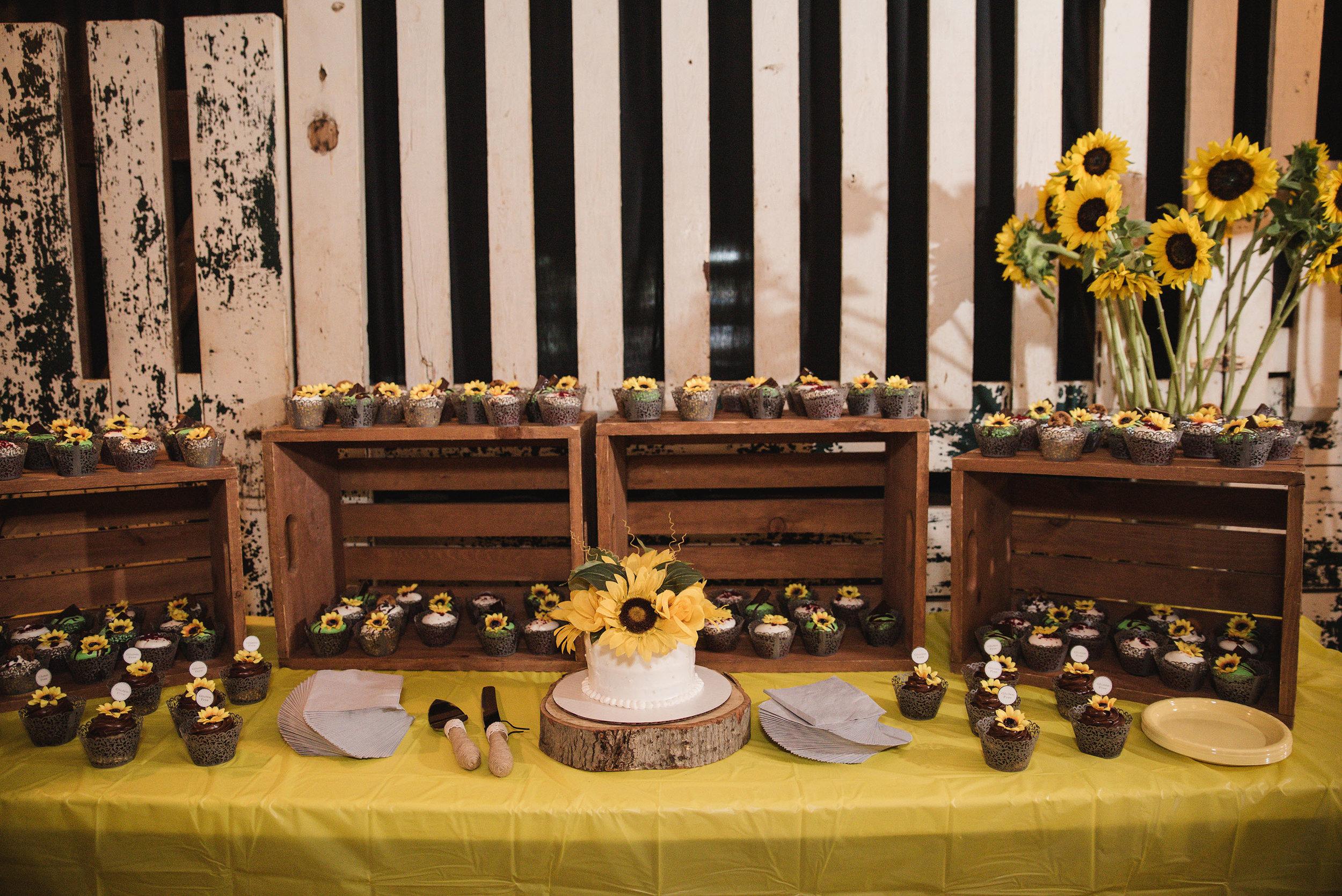 dessert table at wedding lancaster ohio wedding photographer