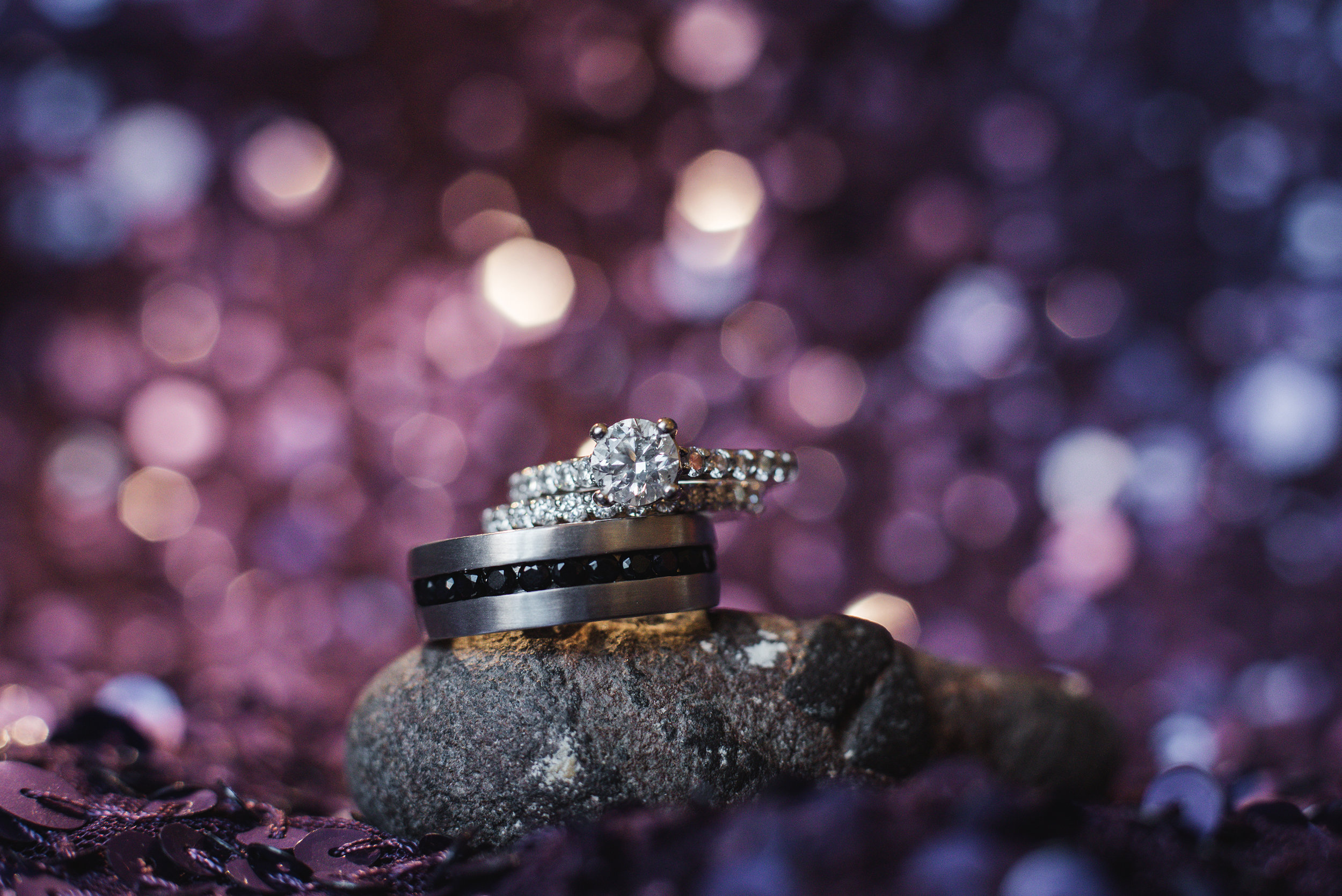 macro ring photo unconventional wedding photographer in columbus ohio