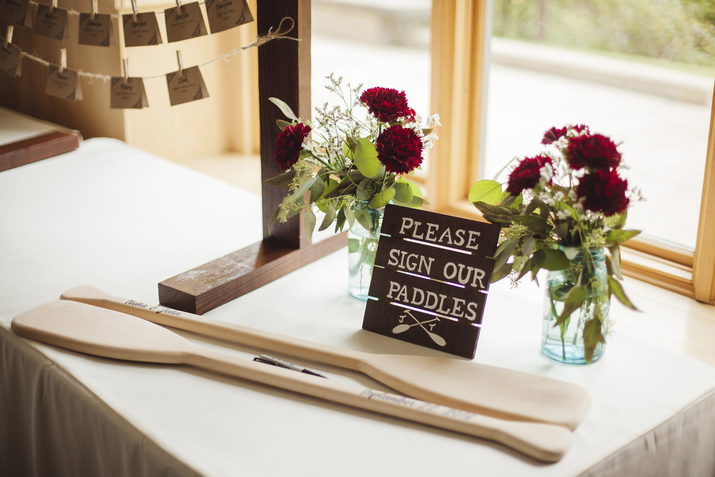 wedding guestbook at lake hope lodge